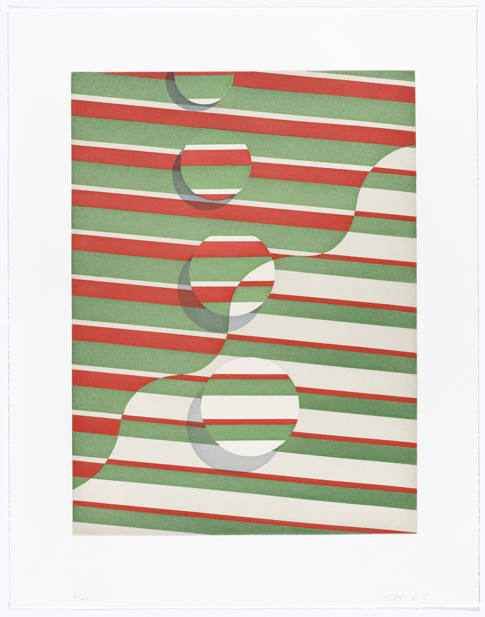 Tomma Abts. Untitled (wavy line). 2015