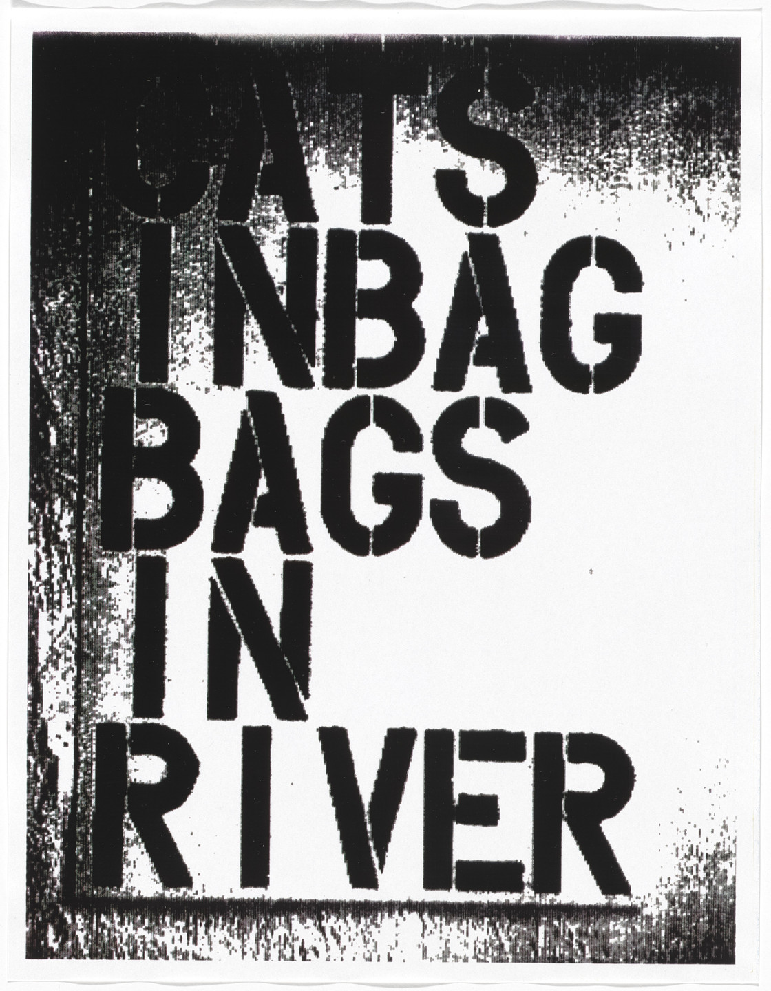 Christopher Wool. Untitled from Untitled (Cats in Bag). 1990