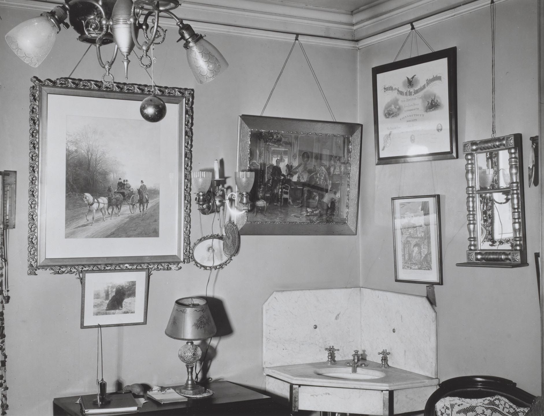 Walker Evans. Interior, Storrs House, Hartford, Connecticut. 1933