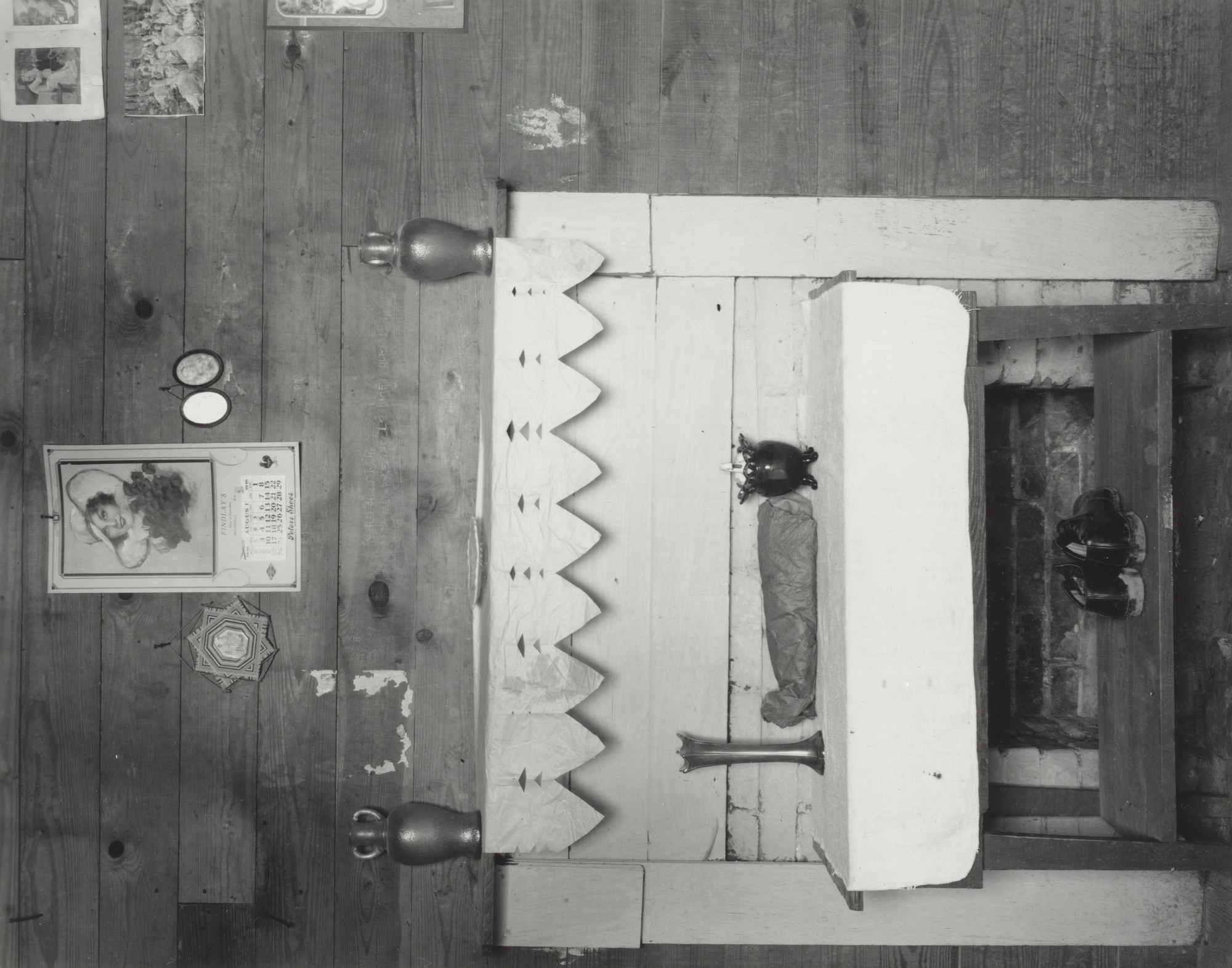 Walker Evans. Fireplace, Tenant Farmhouse, Hale County, Alabama. 1936
