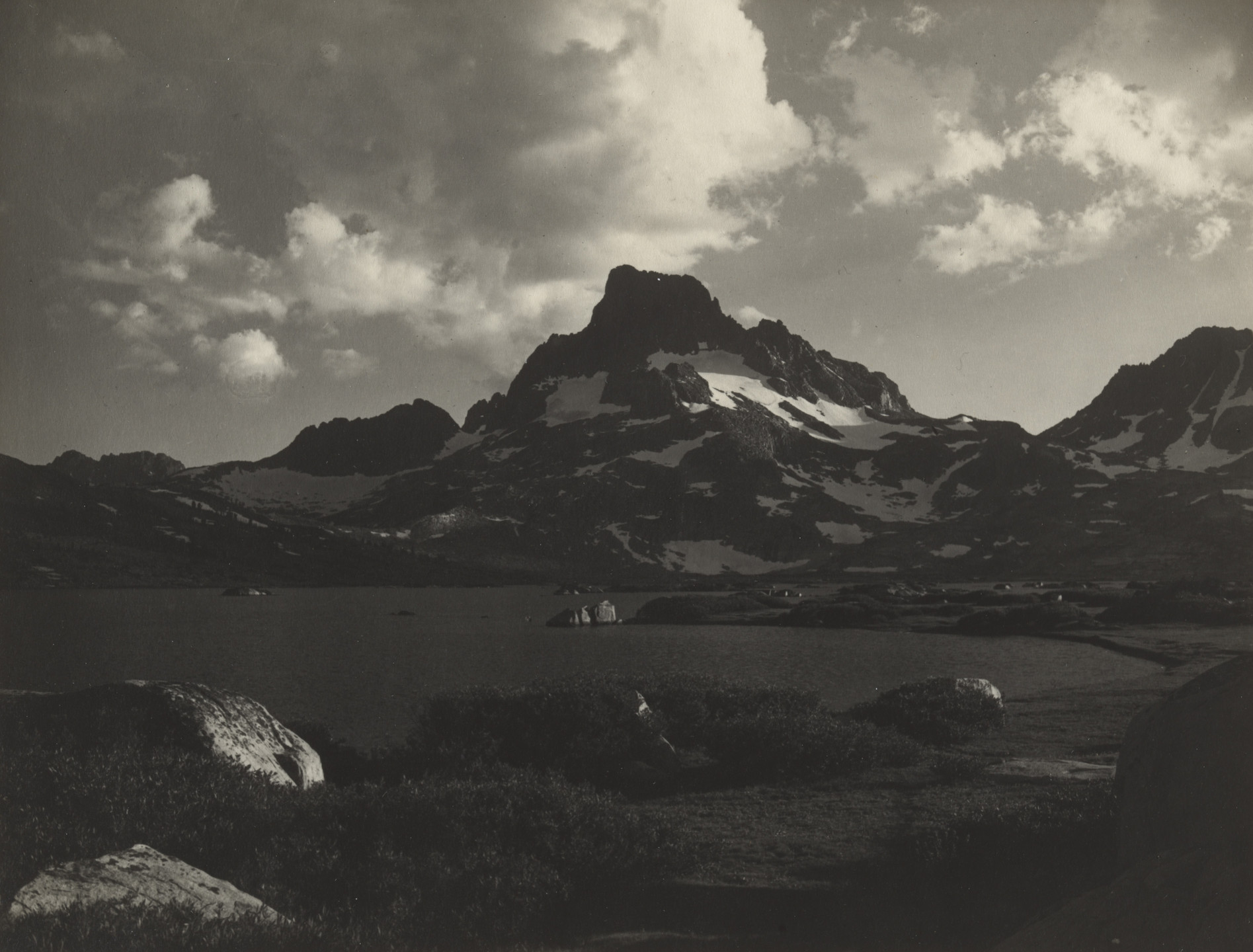 Ansel Adams. Banner Peak and Thousand Island at Sunset. 1923