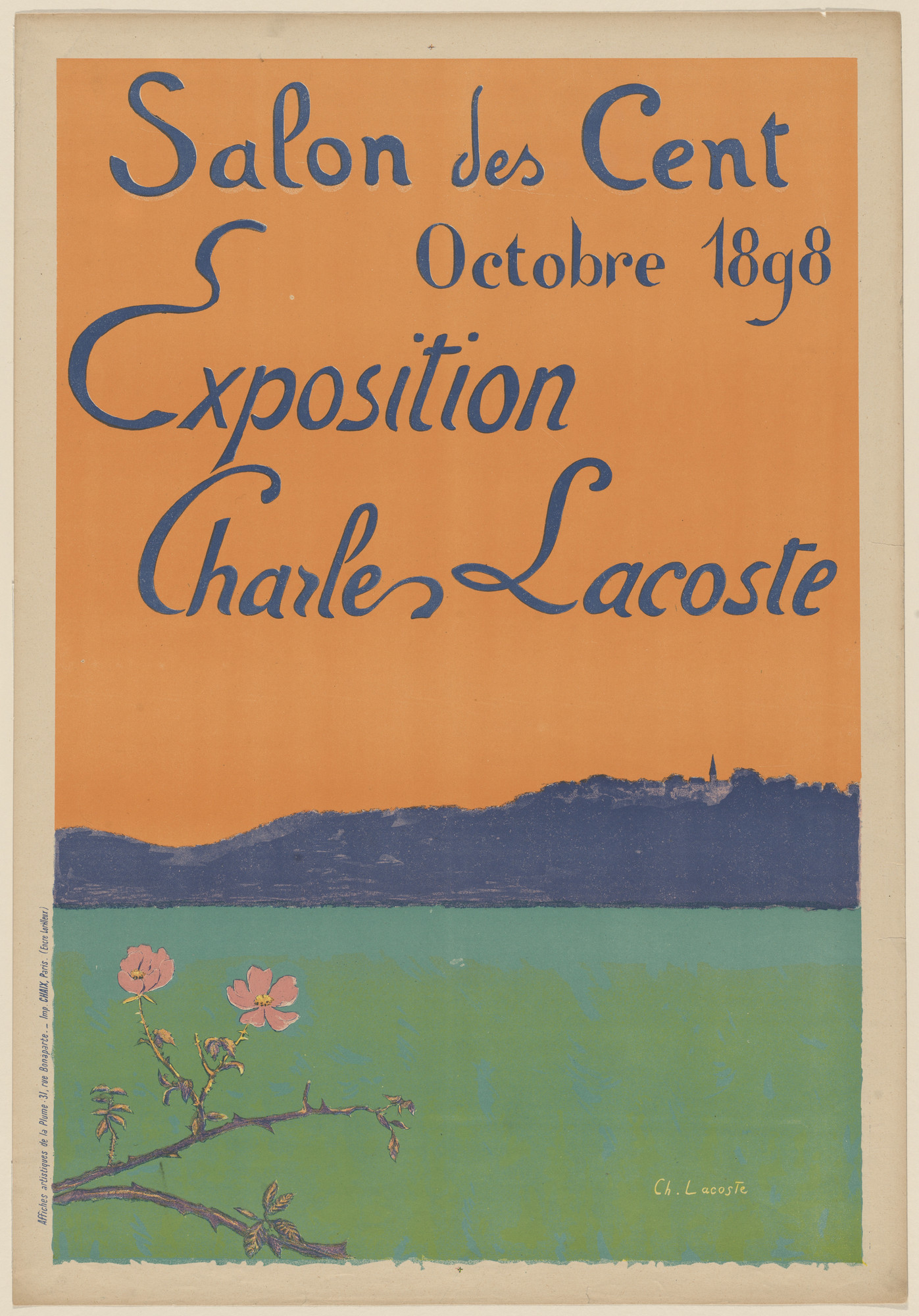 Charles Lacoste. Exposition Charles Lacoste, Salon des Cent. 1898