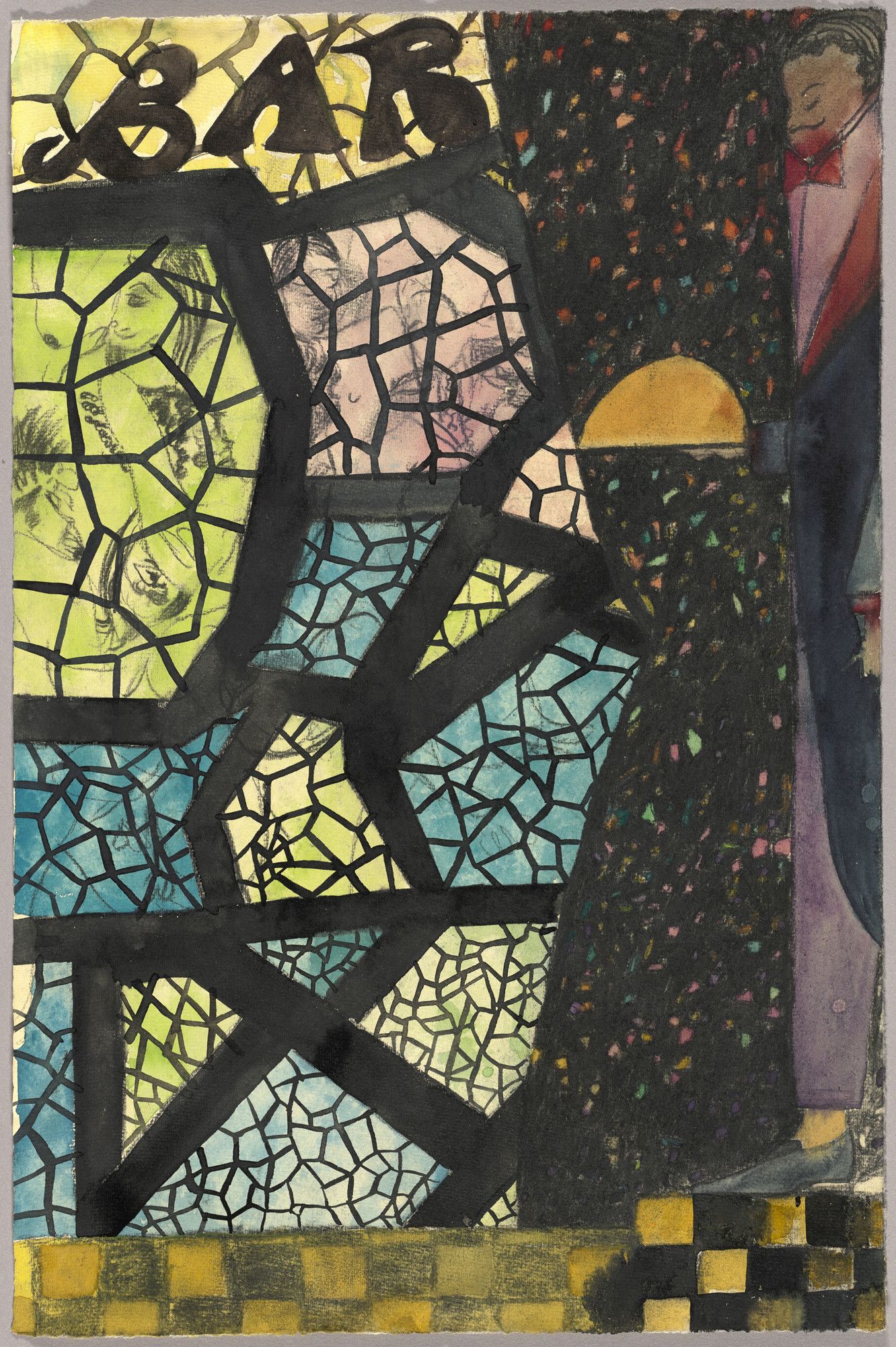 Chris Ofili. Stained Glass Bar. 2014