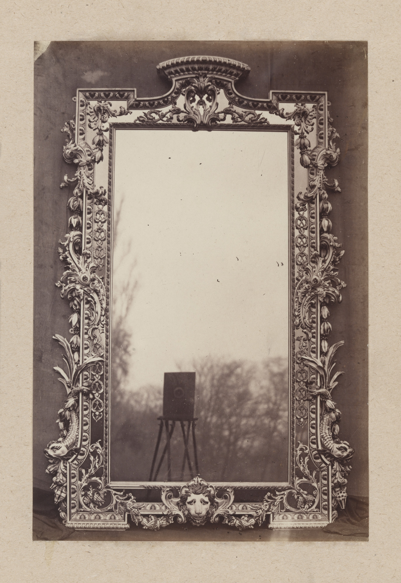 Charles Thurston Thompson. English Mirror, c. 1730, from Cumberland Lodge, Windsor Forest. 1853