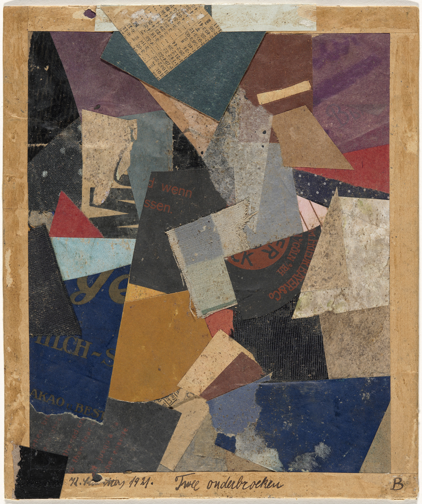 Kurt Schwitters. Merz 460. Two Underdrawers. 1921