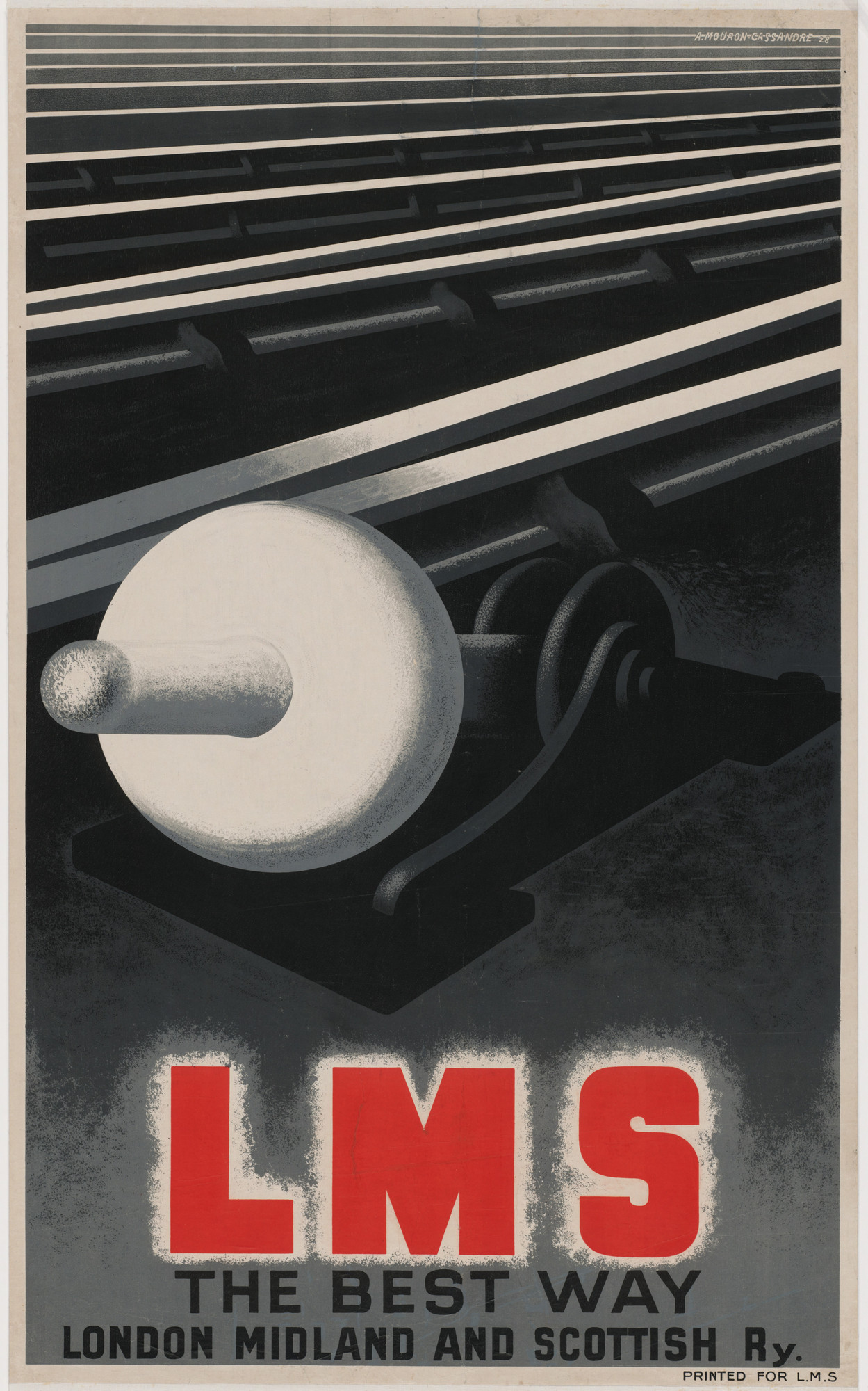 A. M. Cassandre. LMS The Best Way, London Midland and Scottish Ry. 1928