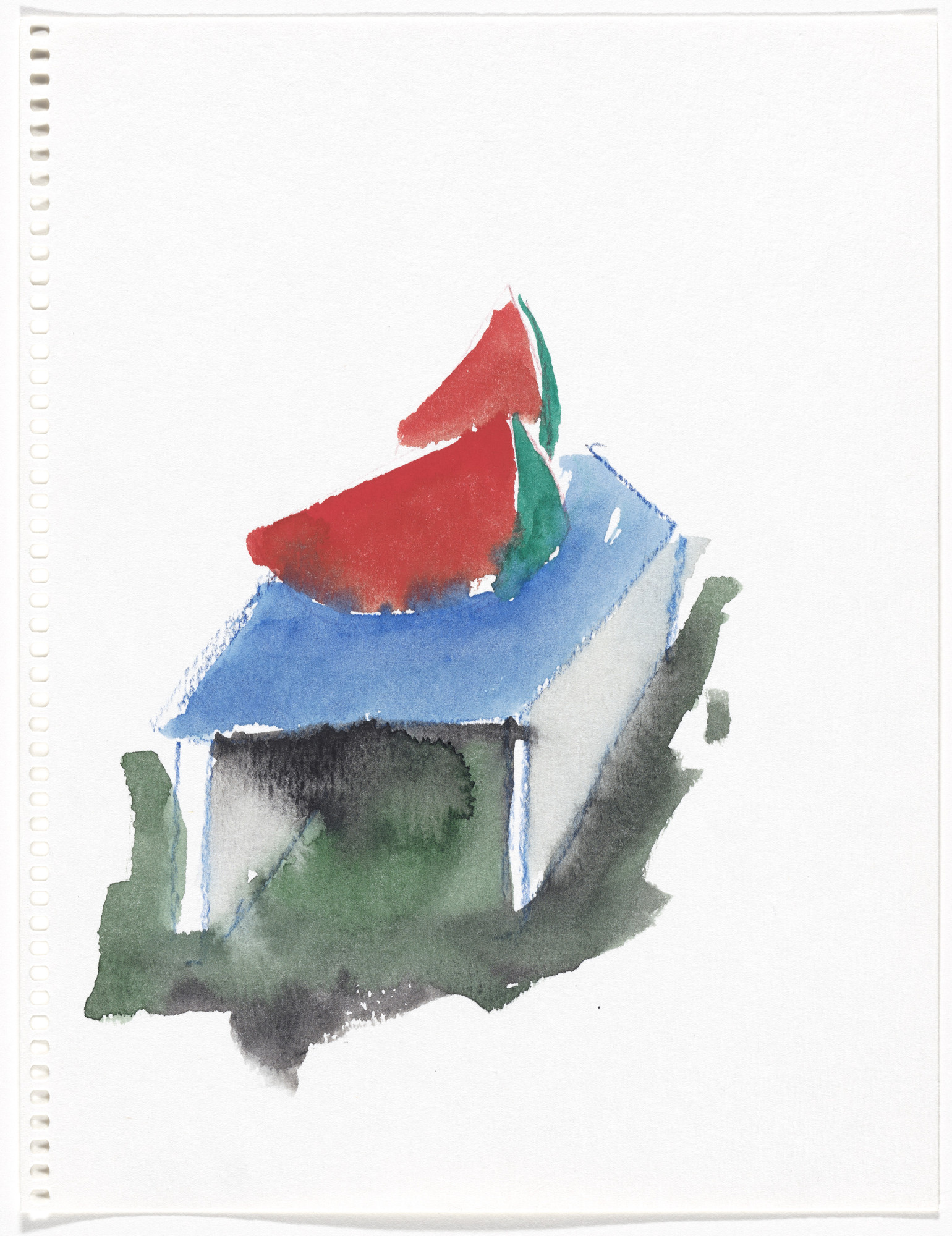 Thomas Schütte. Untitled from Aquarellen (Watercolors). 1987