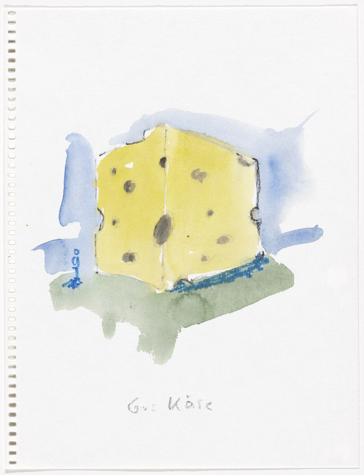 Thomas Schütte. Gut Käse (Good Cheese) from Aquarellen (Watercolors). 1987