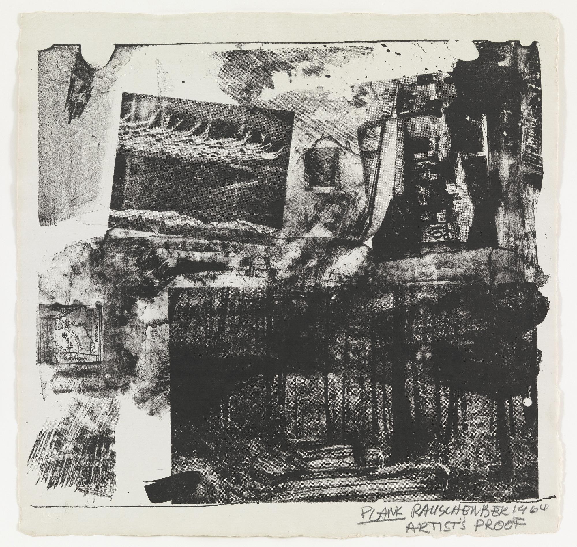 Robert Rauschenberg Plank Supplementary Plate For The
