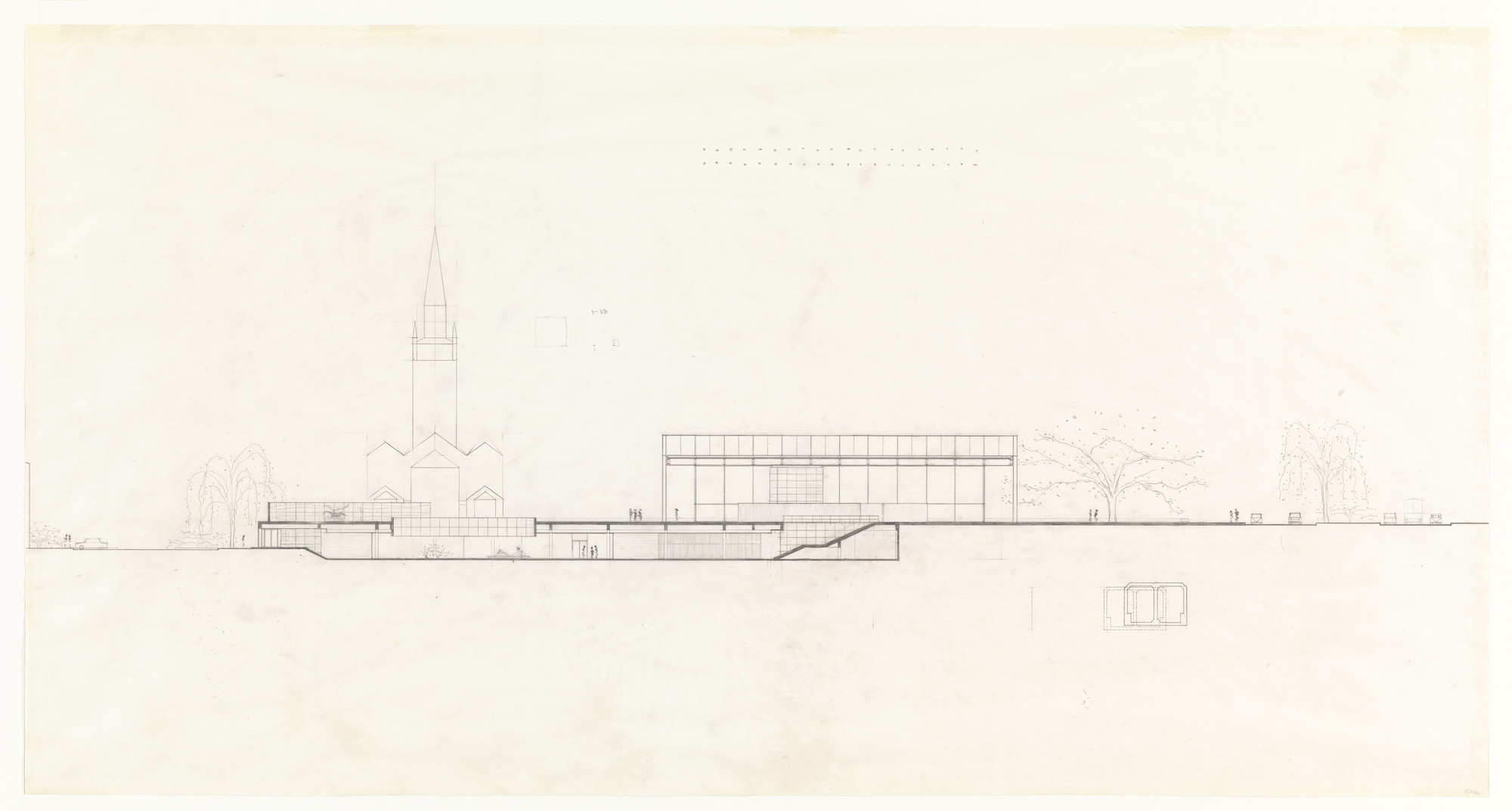 Ludwig Mies van der Rohe. New National Gallery, Berlin, Germany. c.1962-1968