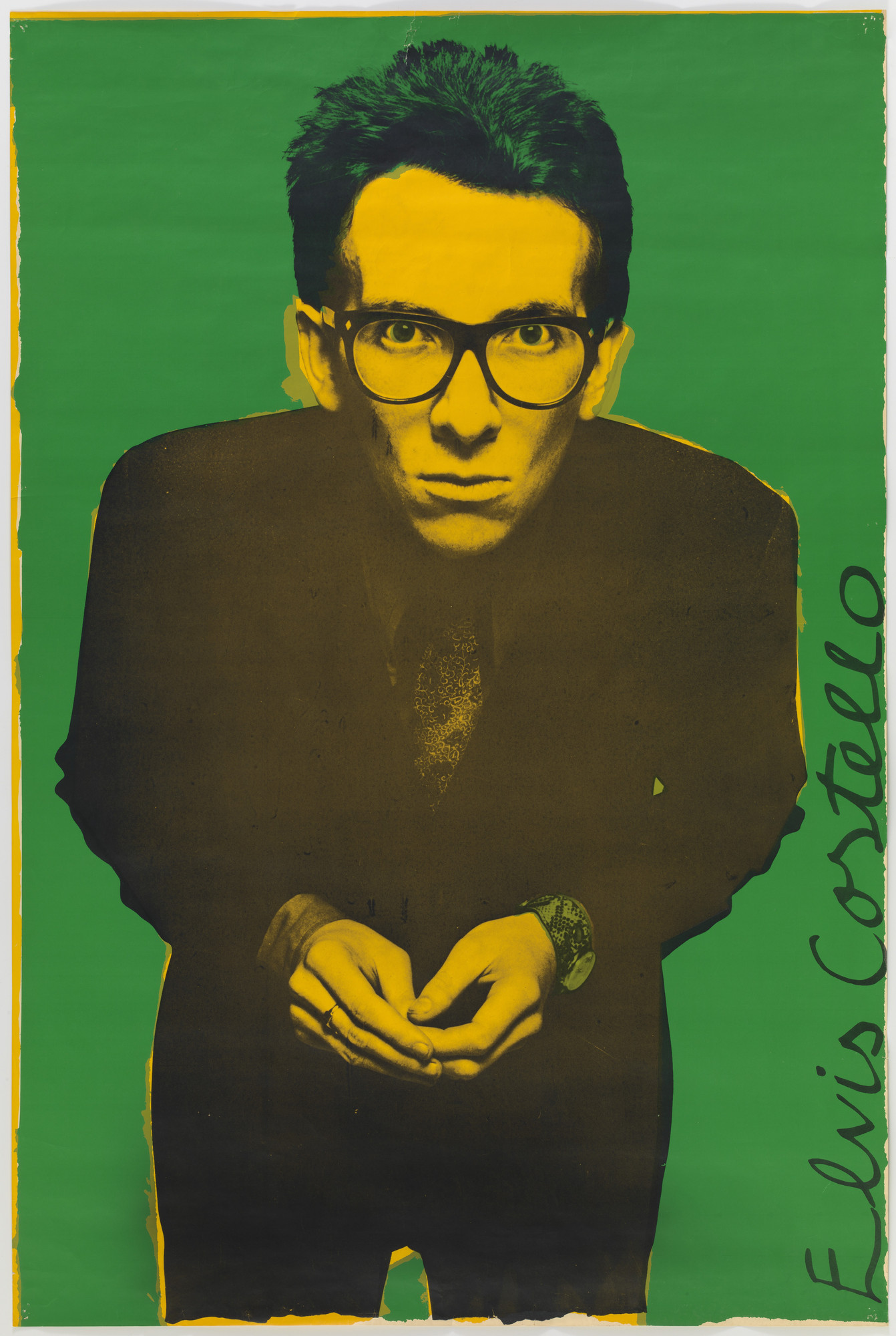 Barney Bubbles (Colin Fulcher), Chris Gabrin. Elvis Costello, Stiff Records. 1977