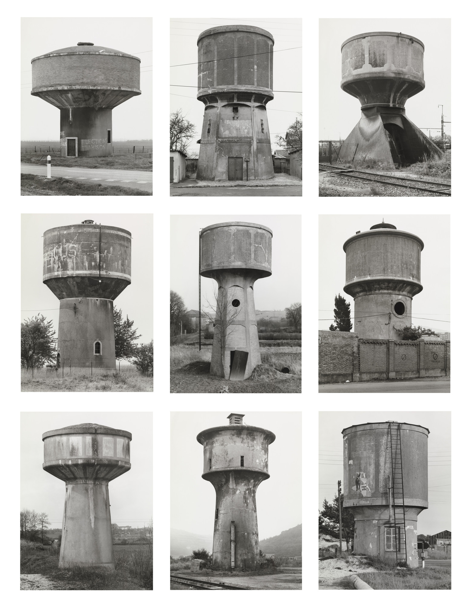 Bernd Becher, Hilla Becher. Water Towers. 1988