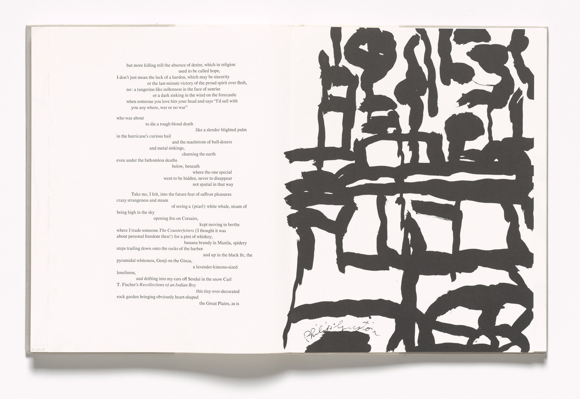 Philip Guston. In-text plate (folios 71 verso and 72 recto) from In Memory of My Feelings. 1967
