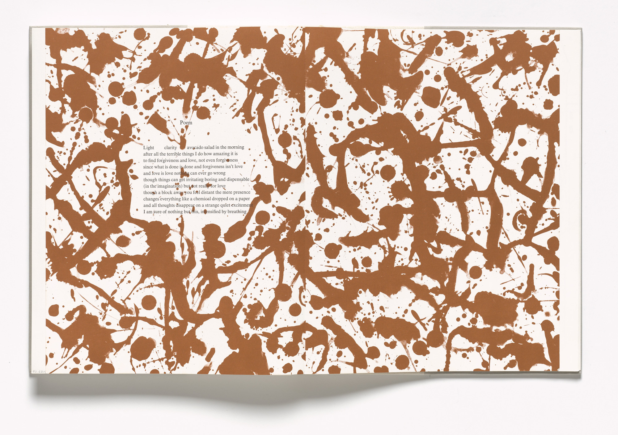Lee Krasner. In-text plate (folios 99 verso and 100 recto) from In Memory of My Feelings. 1967