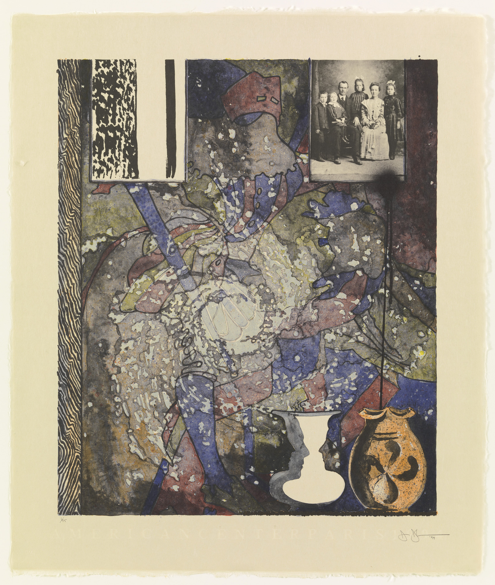 Jasper Johns. Untitled (American Center 1994). 1994