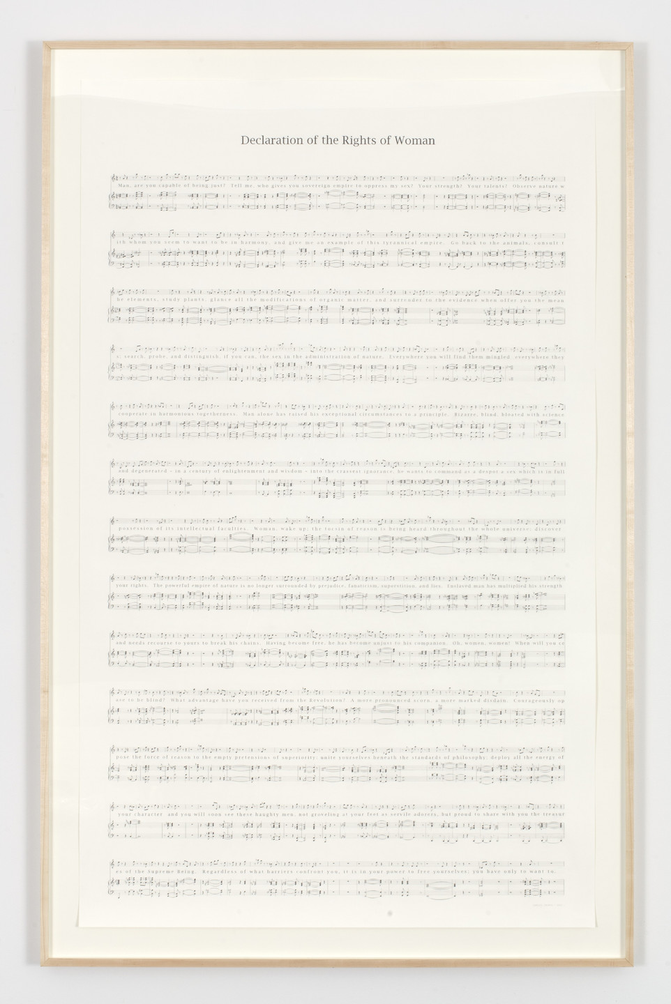 Charles Gaines. Declaration of the Rights of Woman (1971). 2013