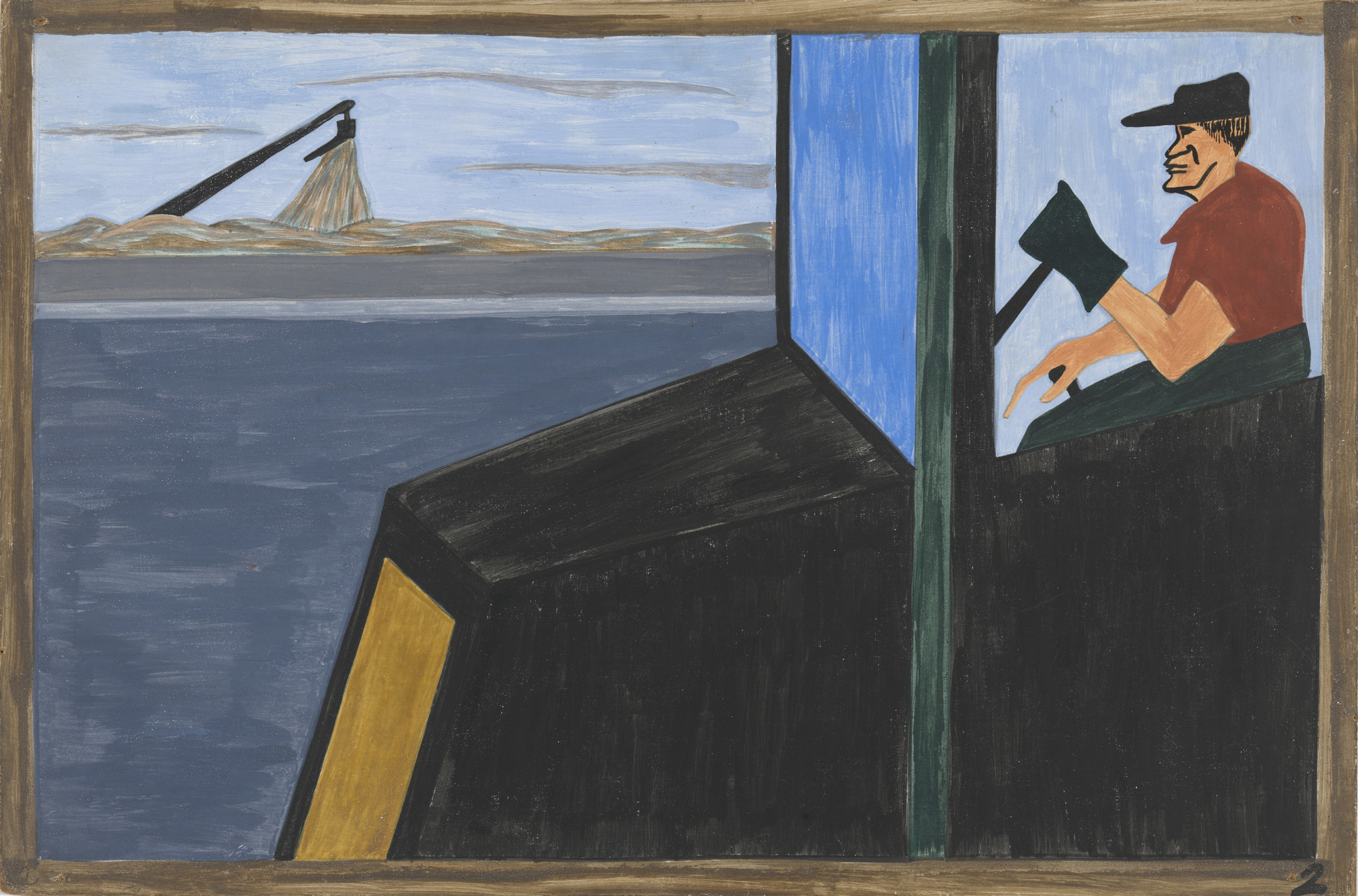 Jacob Lawrence. The World War had caused a great shortage in Northern industry and also citizens of foreign countries were returning home. 1940-41