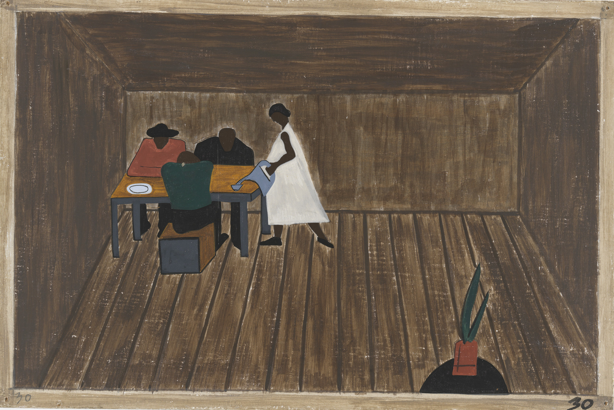 Jacob Lawrence. In every home people who had not gone North met and tried to decide if they should go North or not. 1940-41