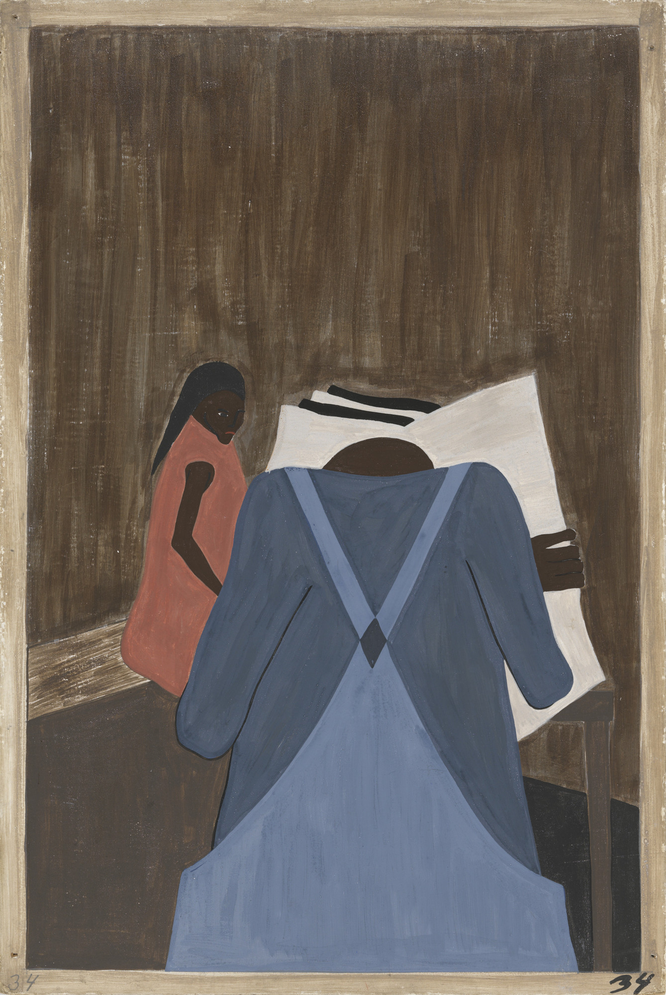 Jacob Lawrence. The Negro press was also influential in urging the people to leave the South. 1940-41