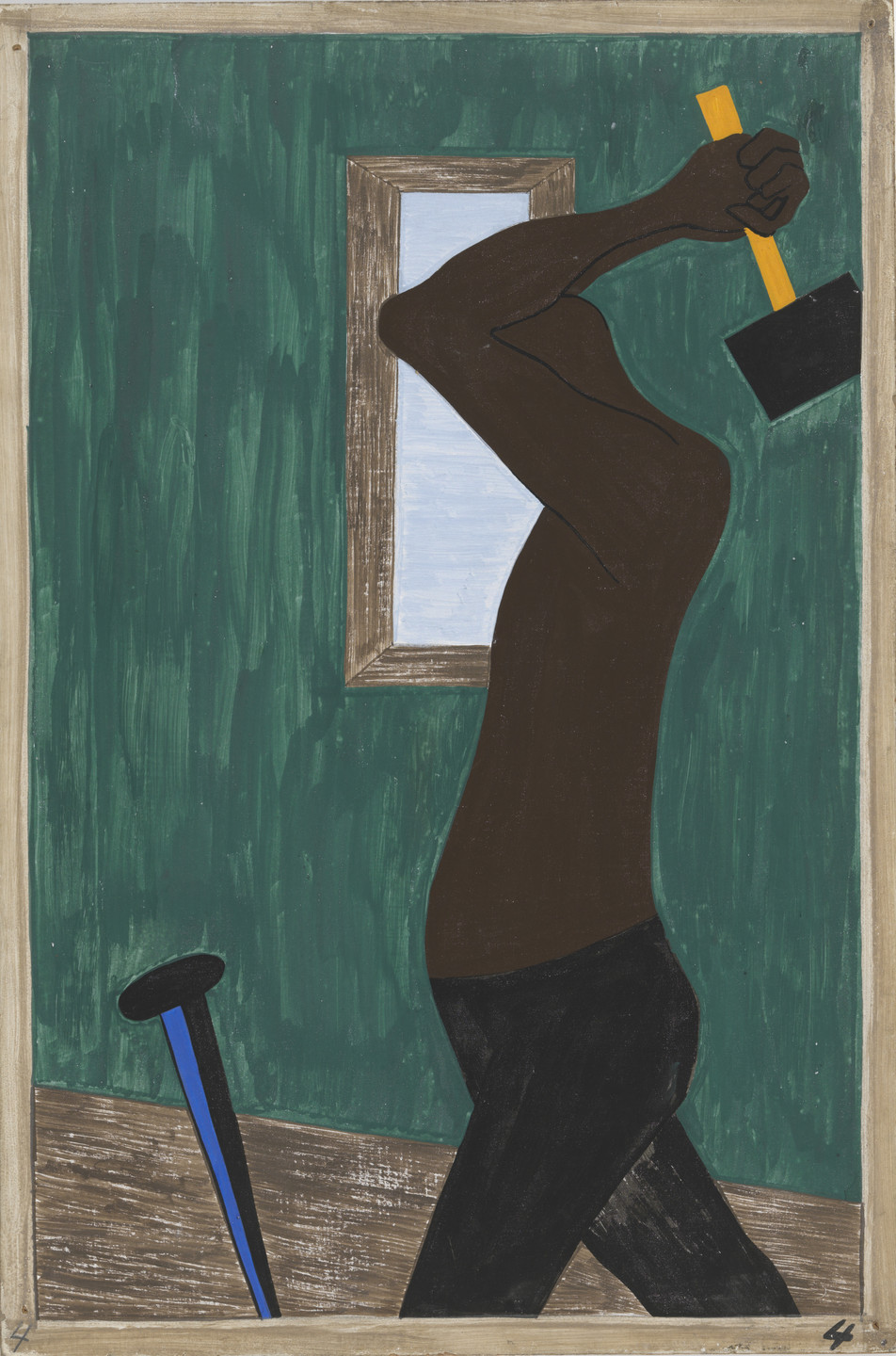 Jacob Lawrence. The Negro was the largest source of labor to be found after all others had been exhausted. 1940-41