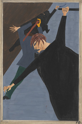 Jacob Lawrence. Race riots were very numerous all over the North because of the antagonism that was caused between the Negro and white workers. Many of these riots occurred because the Negro was used as a strike breaker in many of the Northern industries. 1940-41