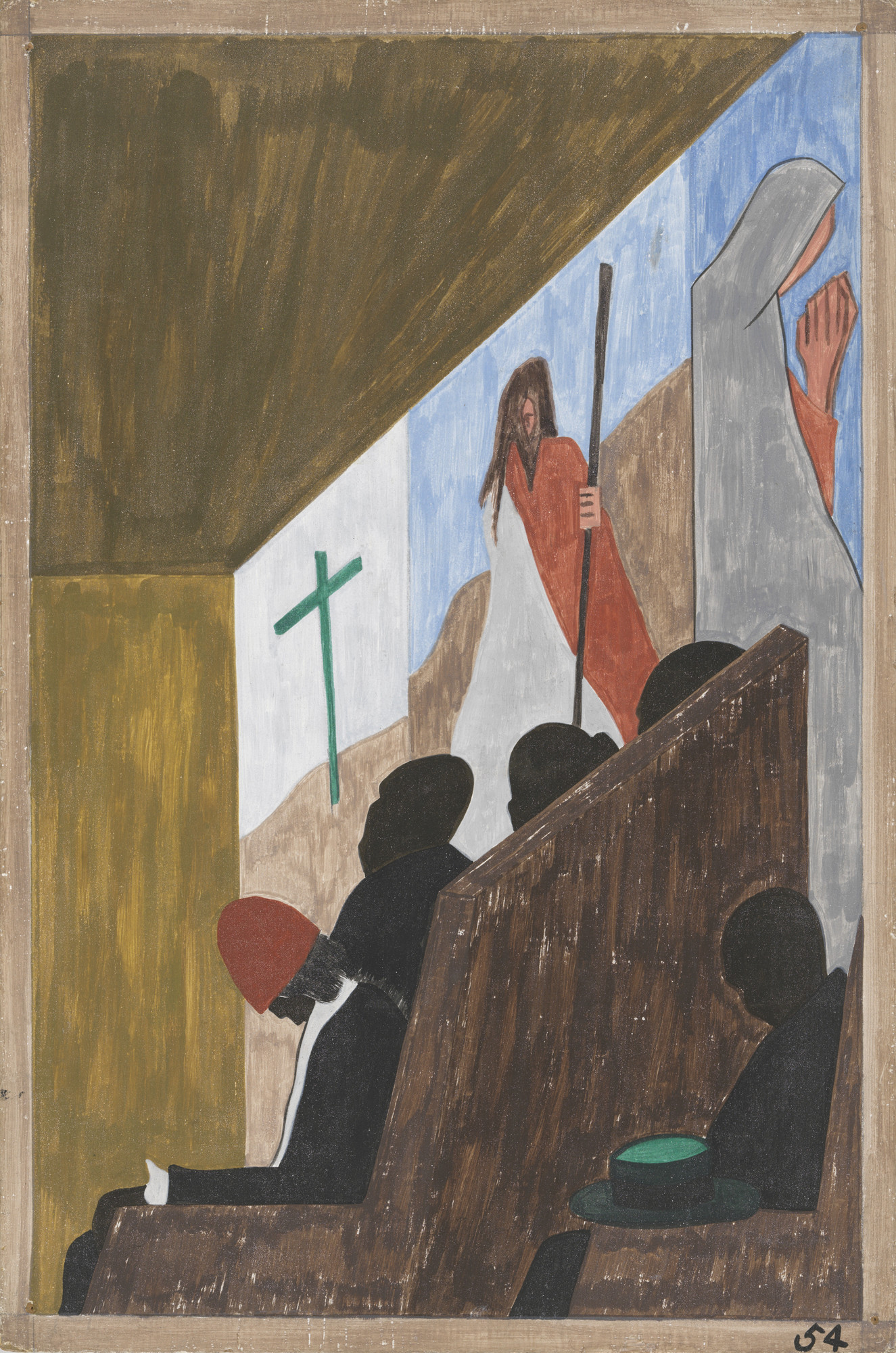 Jacob Lawrence. One of the main forms of social and recreational activities in which the migrants indulged occurred in the church. 1940-41