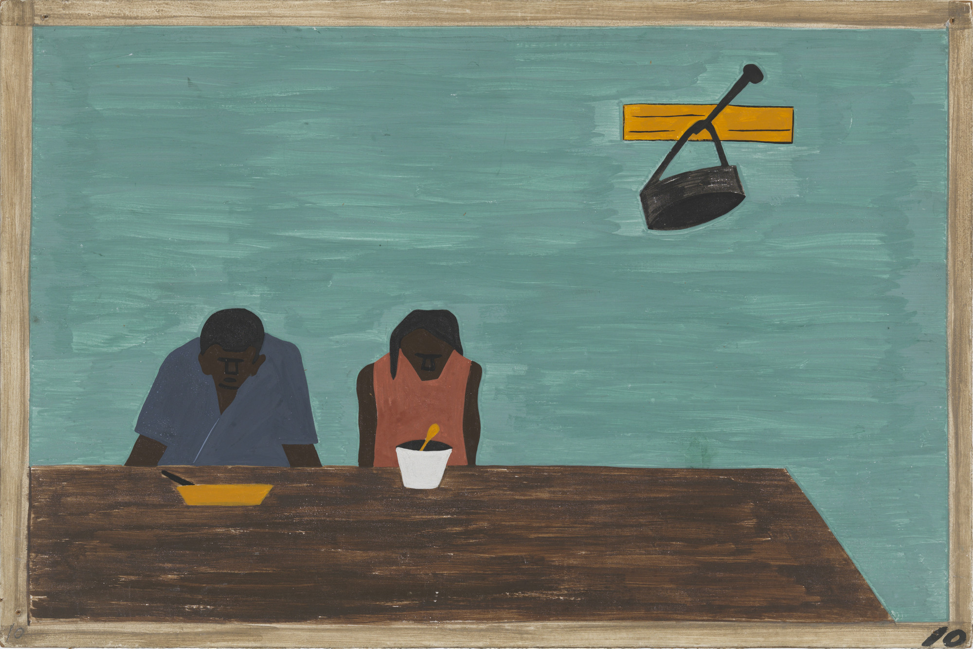 Jacob Lawrence. They were very poor. 1940-41