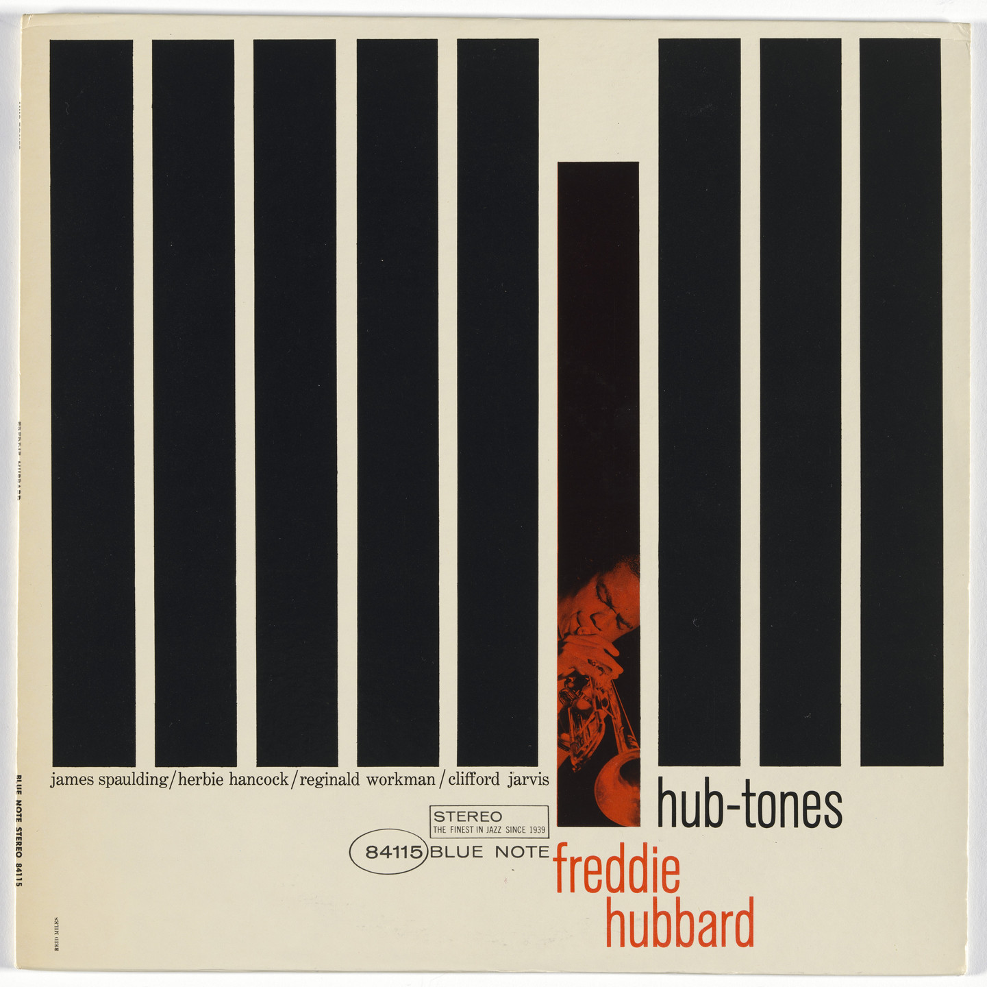 Reid Miles, Francis Wolff, Blue Note Records. Album cover for Freddie Hubbard, Hub-Tones. 1962