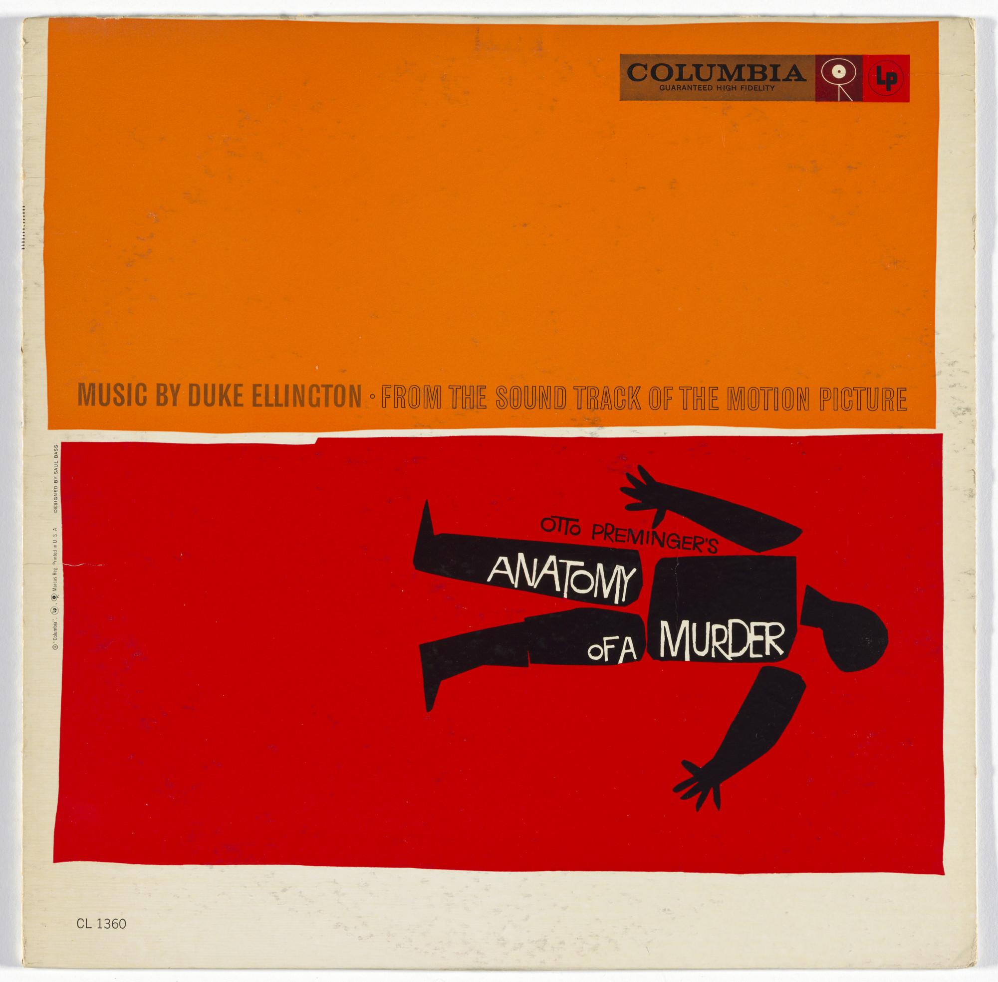 Saul Bass, Duke Ellington, Columbia Records  Album cover for Duke