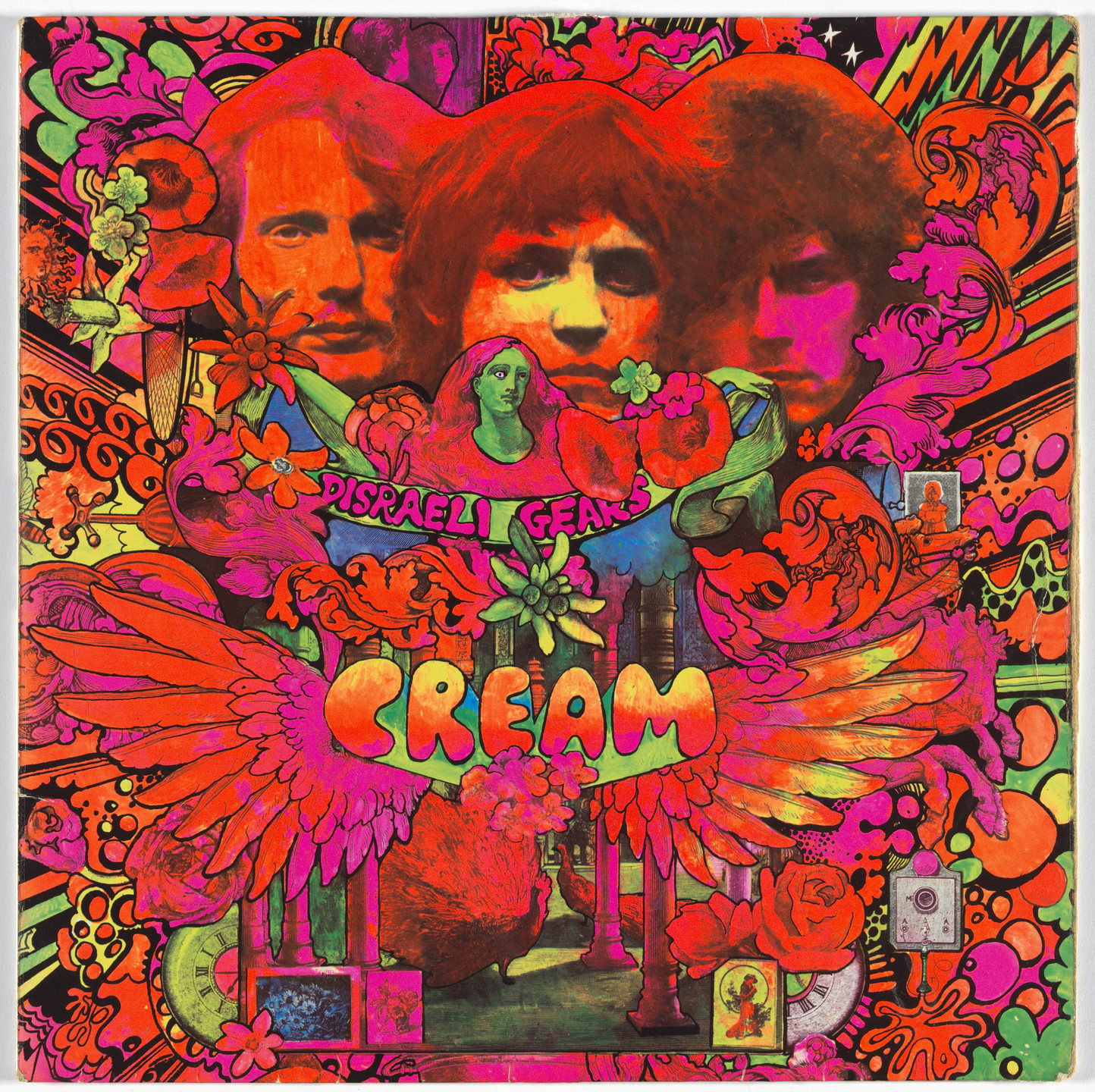 Martin Sharp, Robert Whitaker, Reaction Records. Album cover for Cream, Disraeli Gears. 1967