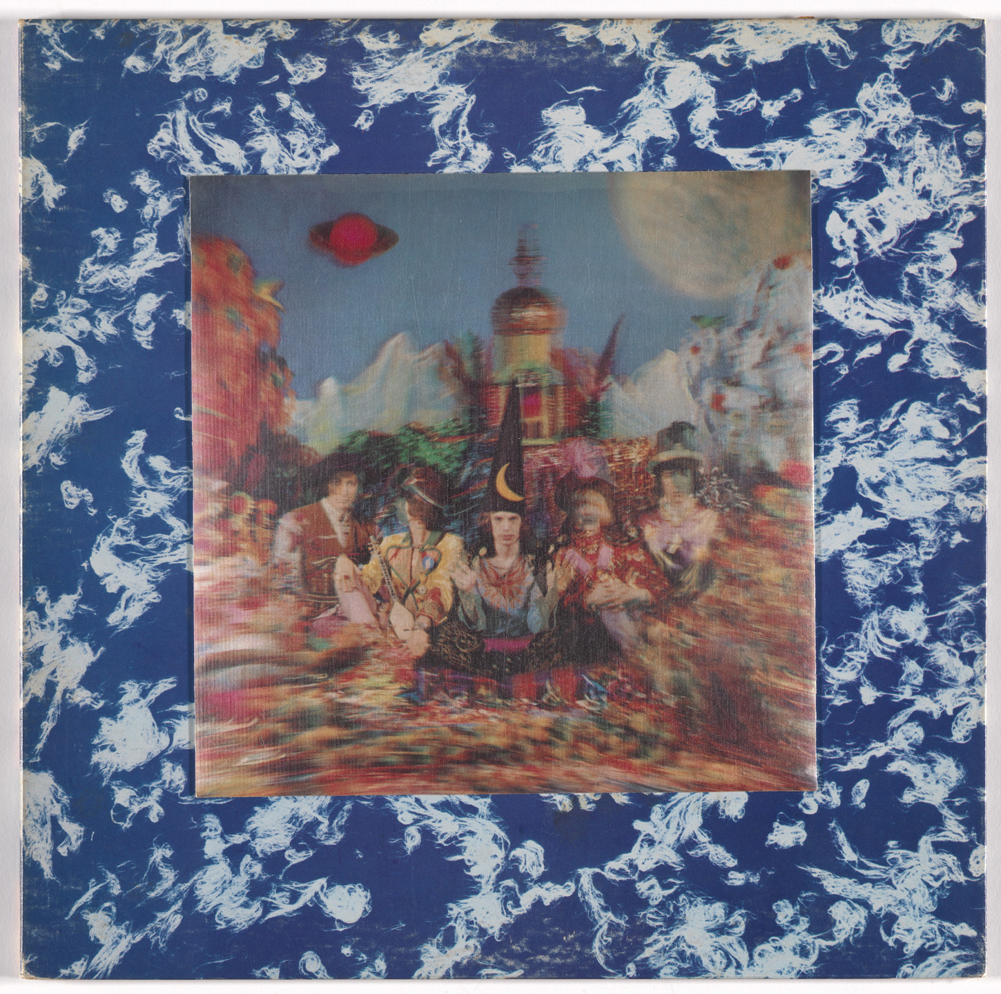 Michael Cooper, Pictorial Productions, Tony Meeviwiffen, Decca Records. Album cover for The Rolling Stones, Their Satanic Majesties Request. 1967