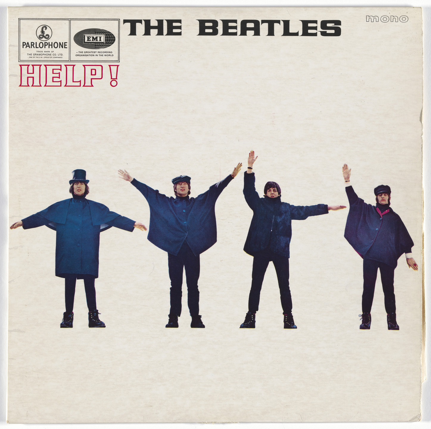 Robert Freeman, Parlophone Records. Album cover for The Beatles, Help!. 1965