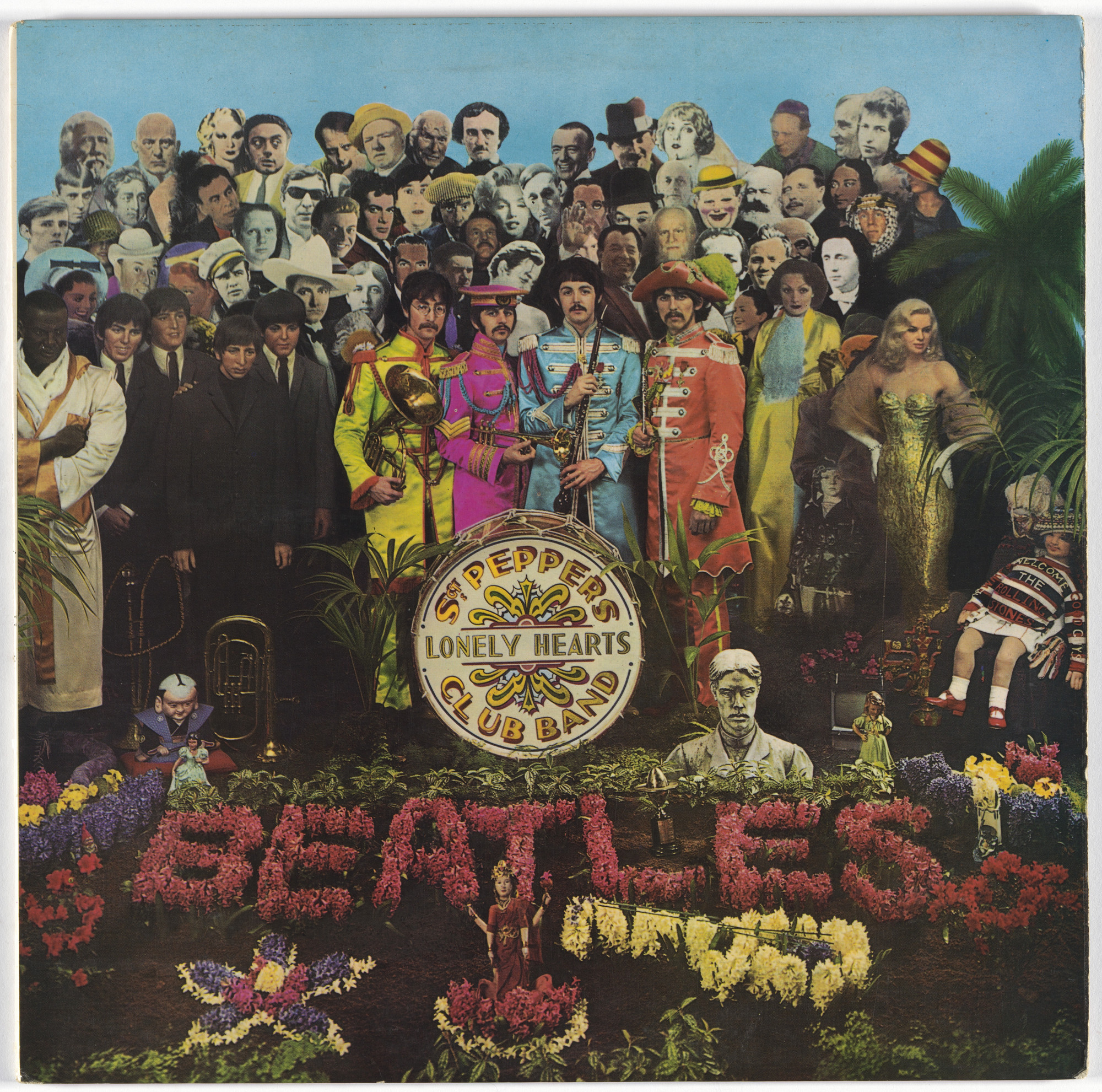 Peter Blake, Jann Haworth, Michael Cooper. Album cover for The Beatles, Sgt. Pepper's Lonely Hearts Club Band. 1967