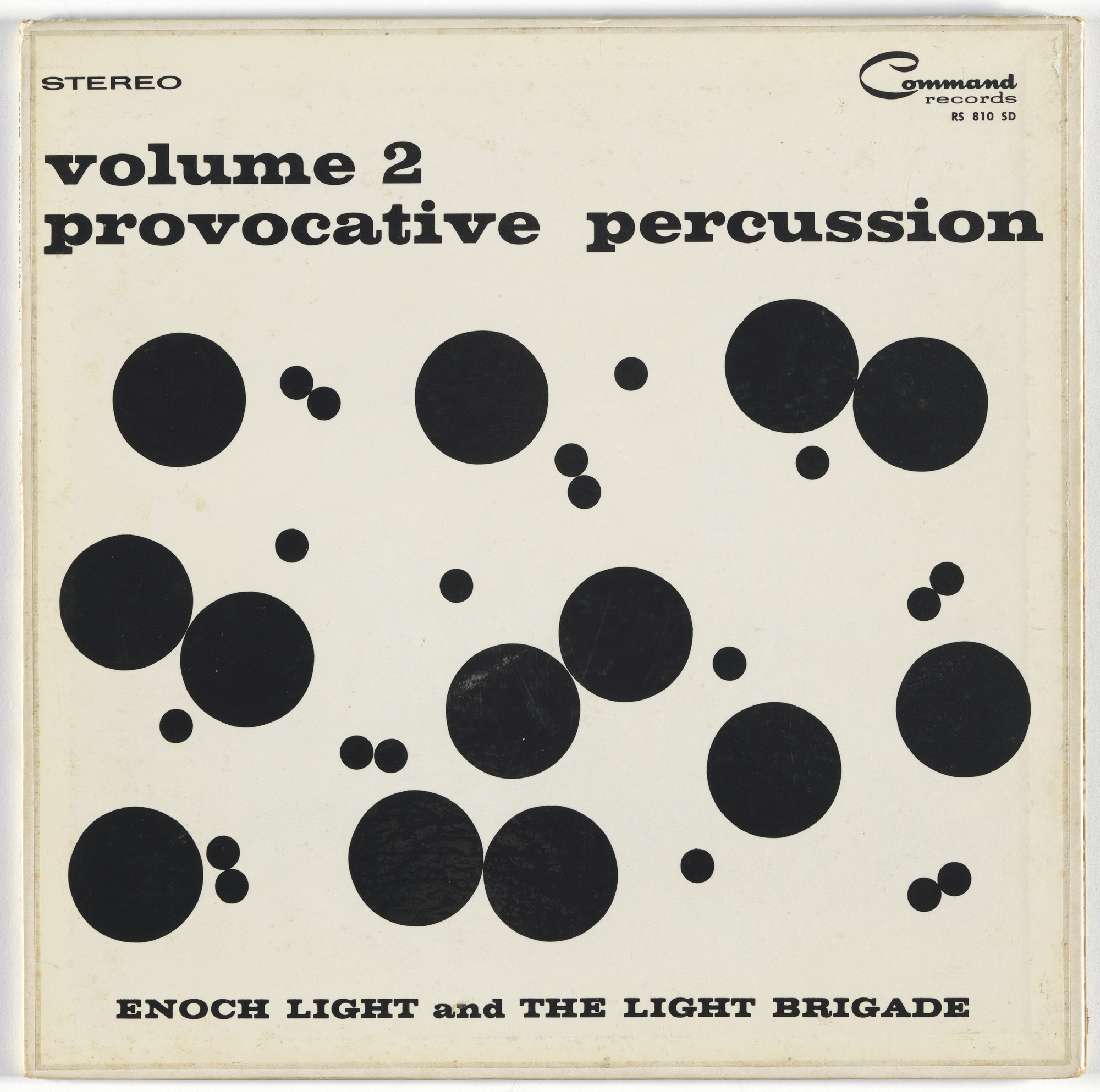 Josef Albers, Charles E. Murphy, Command Records. Album cover for Enoch Light & the Light Brigade, Provocative Percussion vol. 2. 1960