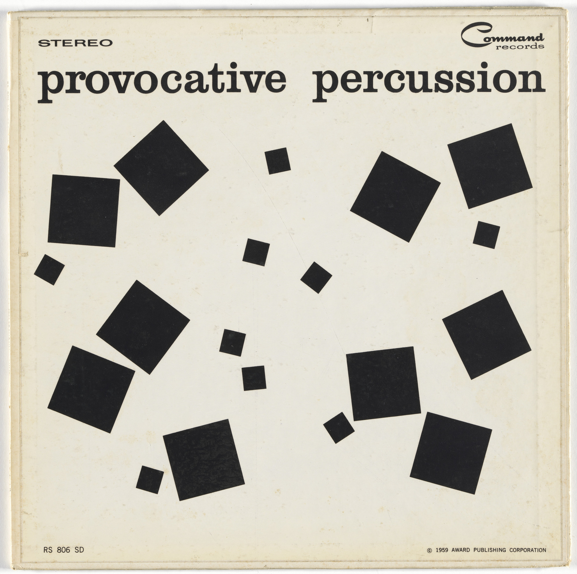 Josef Albers, Charles E. Murphy, Command Records. Album cover for Enoch Light and the Light Brigade, Provocative Percussion. 1959