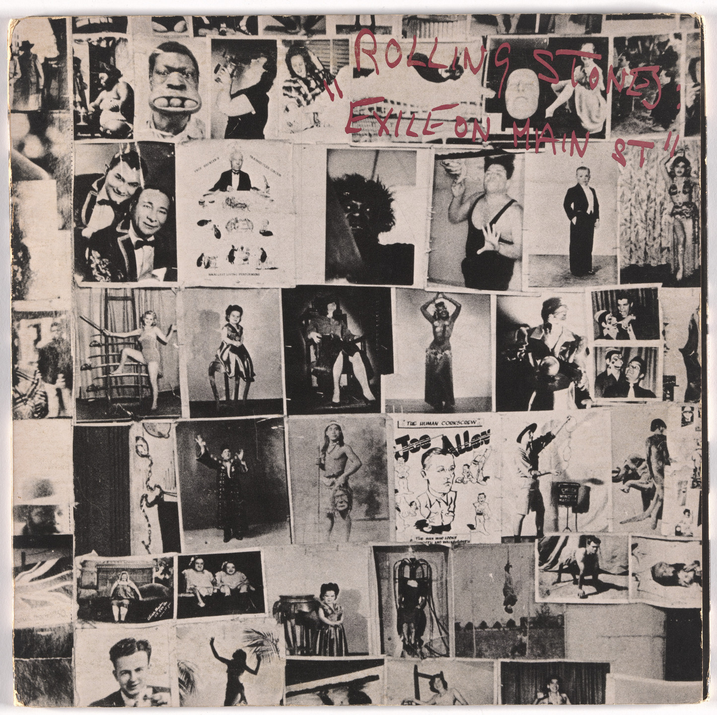 Robert Frank, John Van Hamersveld, Norman Seeff, Rolling Stones Records. Album cover for The Rolling Stones, Exile on Main St.. 1972