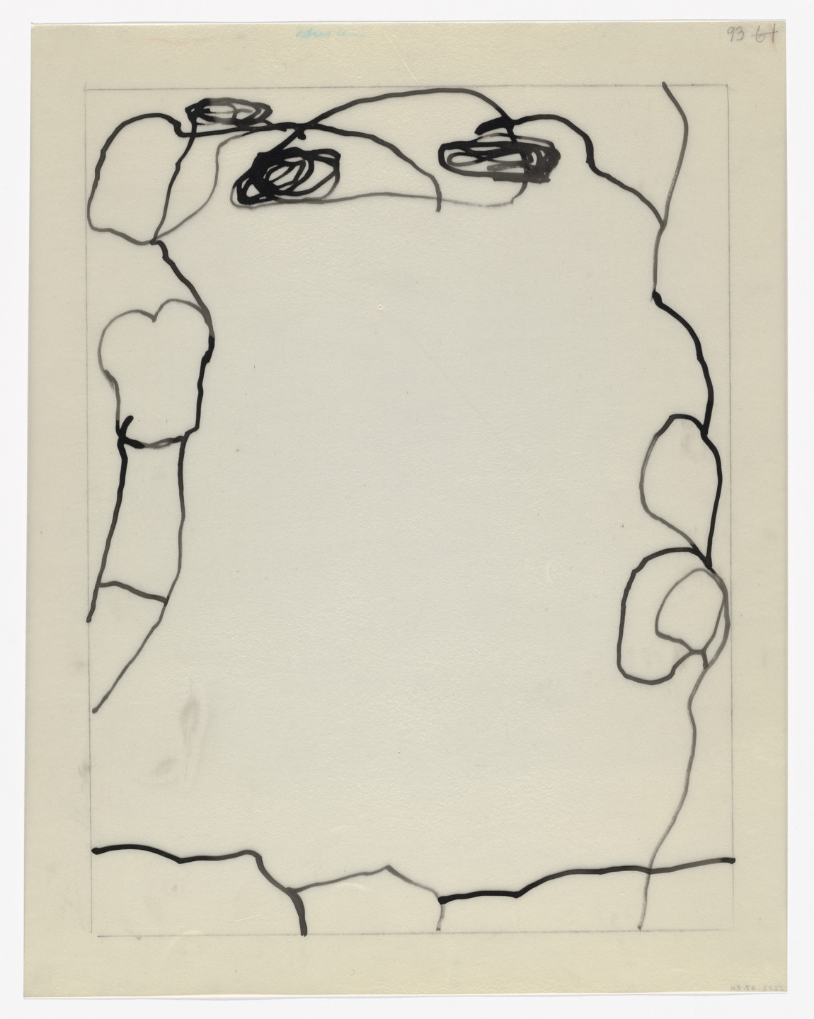 Philip Guston. Preparatory drawing for In Memory of My Feelings. 1967