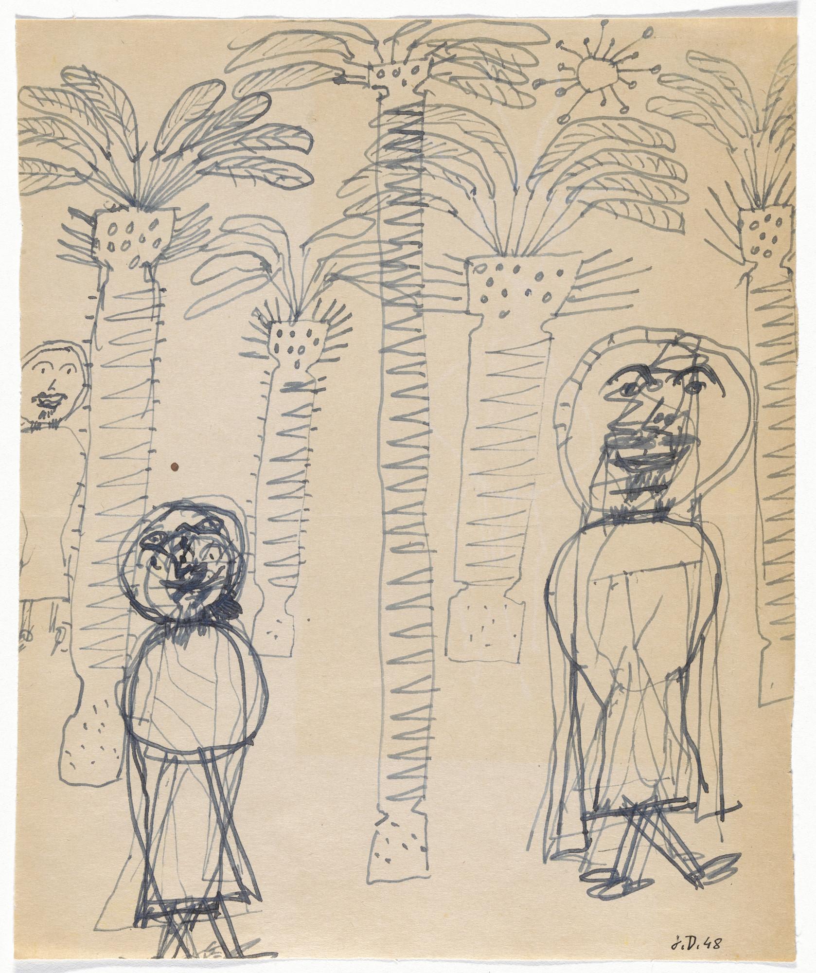 Jean Dubuffet. Sketchbook: El Golea, II. 1948