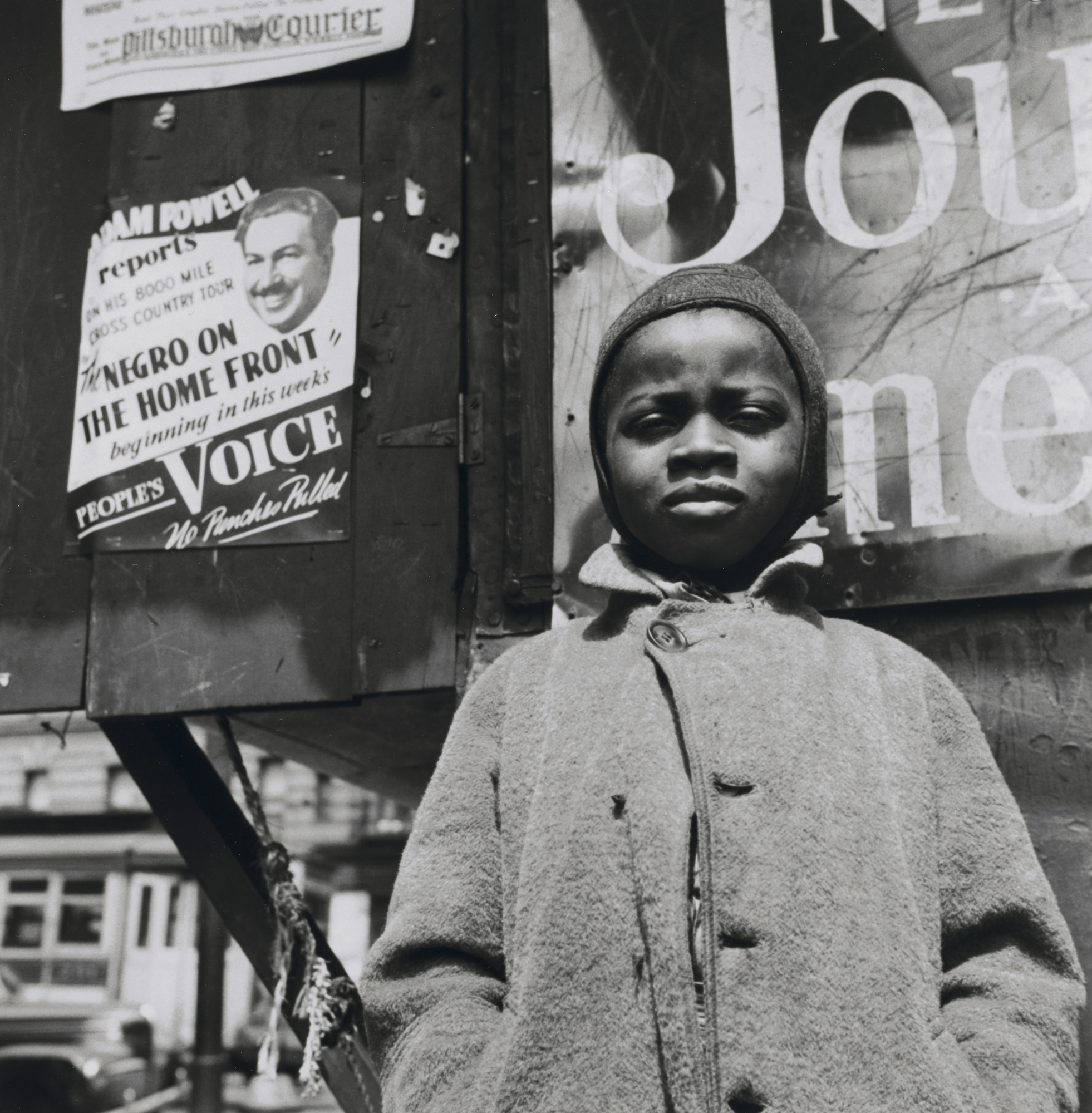 Gordon Parks. Harlem Newsboy, Harlem, New York. 1943