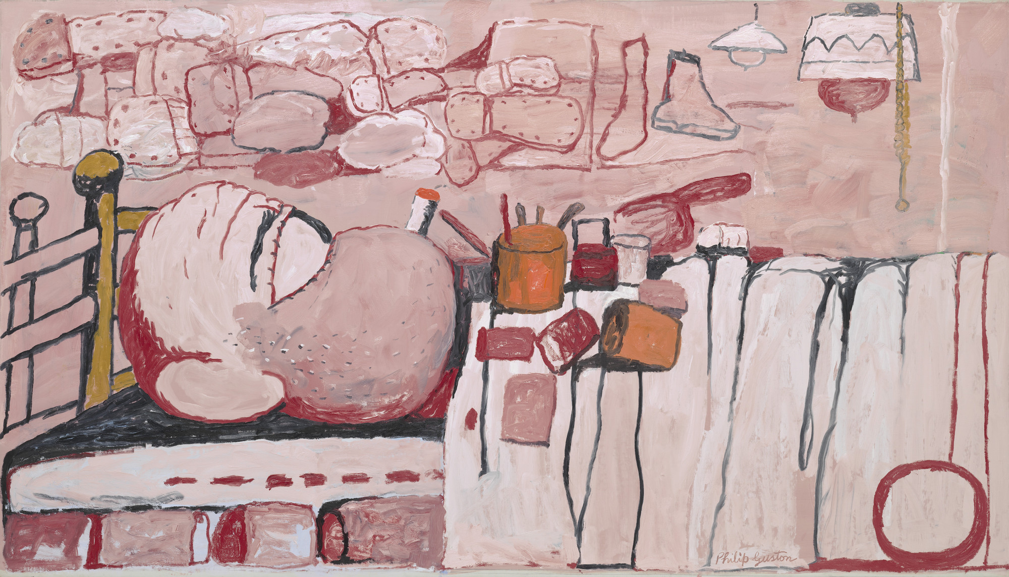 Philip Guston. Painter in Bed. 1973
