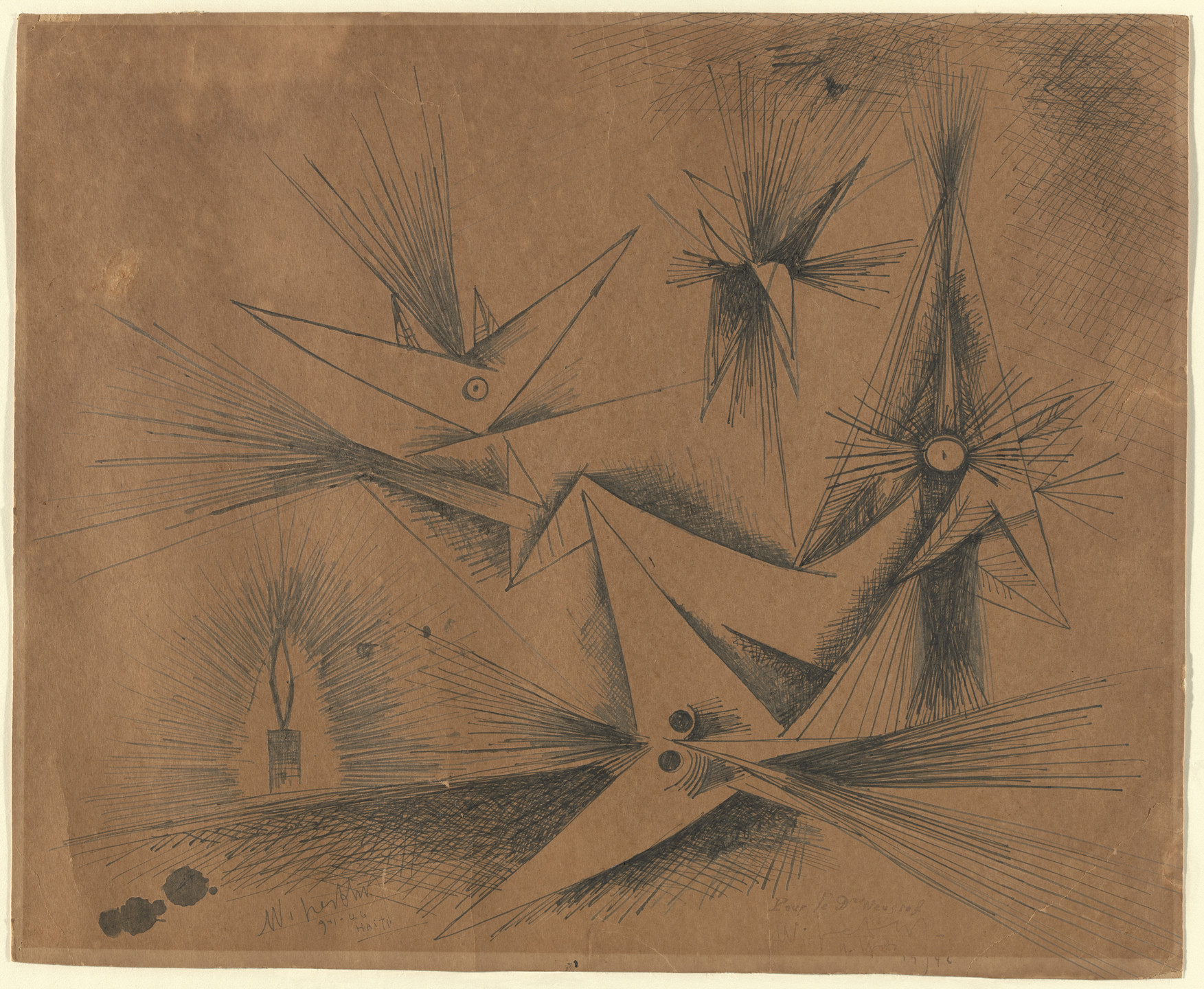 Wifredo Lam. Moths and Candles. 1946