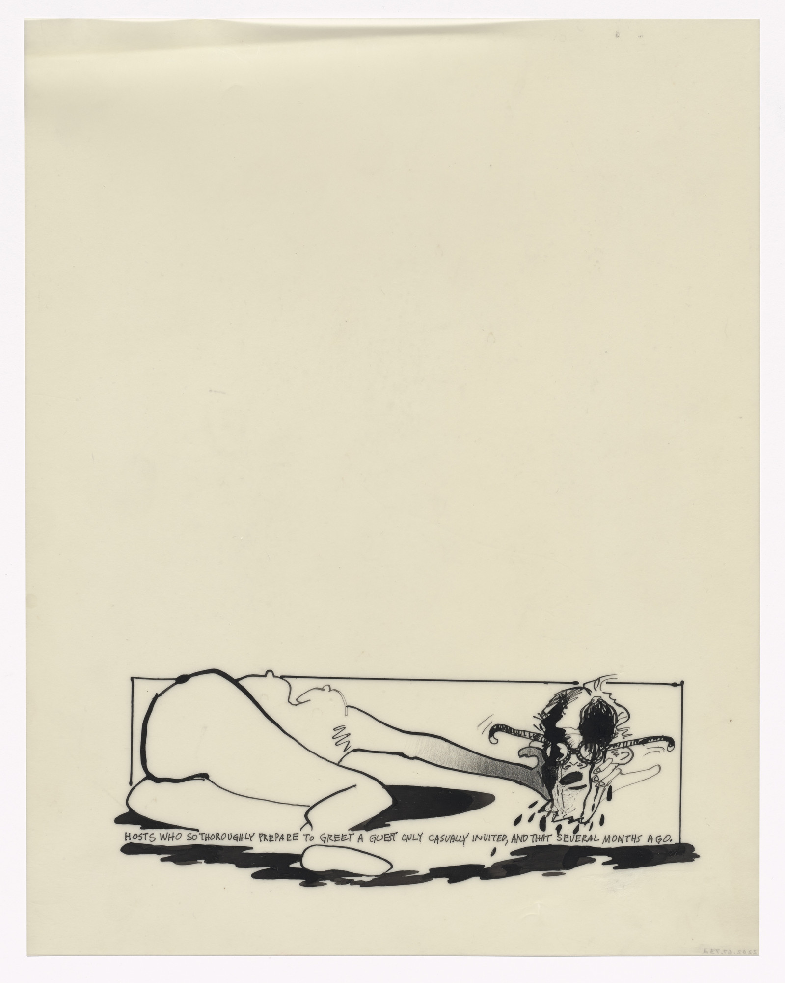 Alfred Leslie. Preparatory drawing for In Memory of My Feelings. 1967