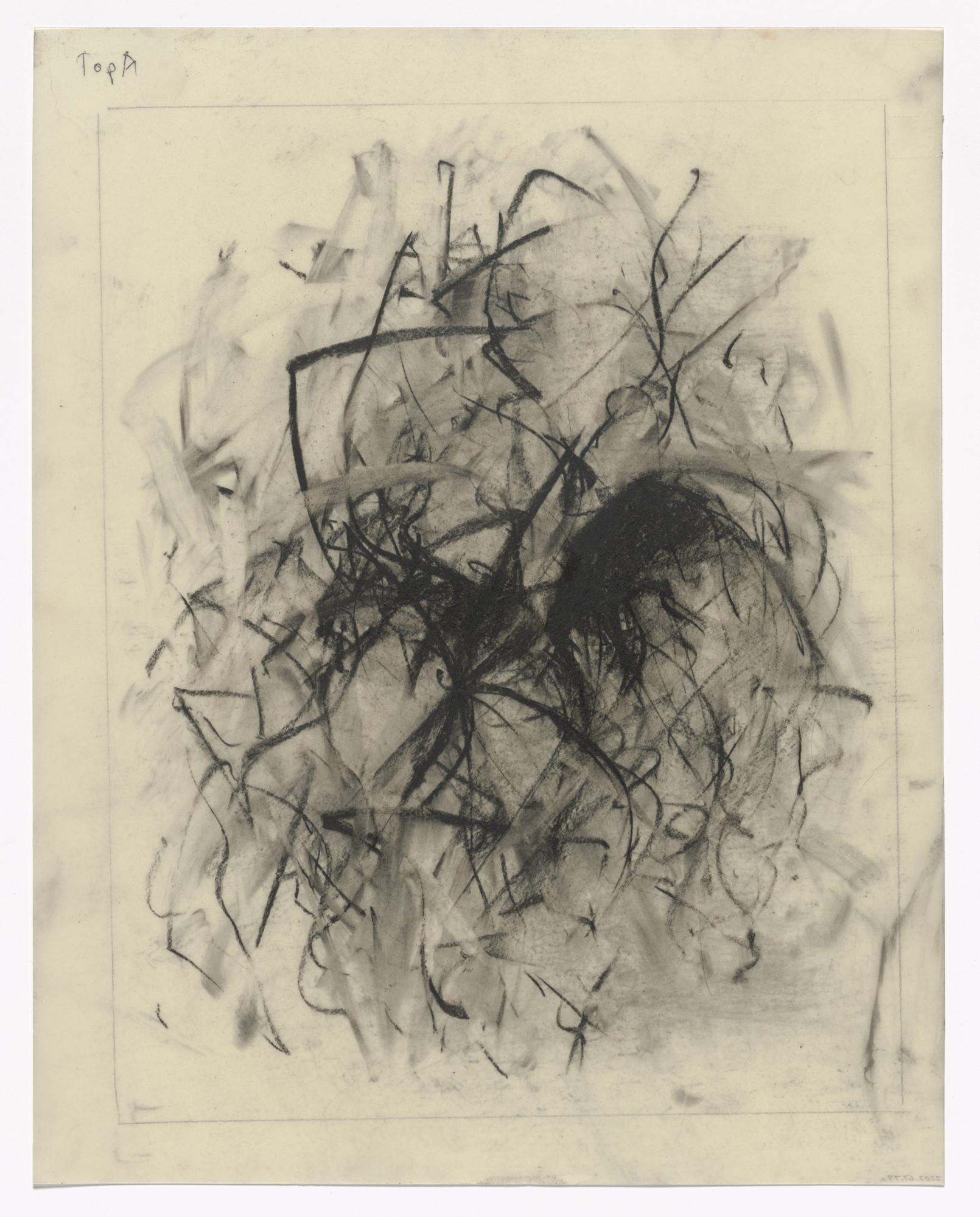 Joan Mitchell. Unused preparatory drawing for In Memory of My Feelings. 1967