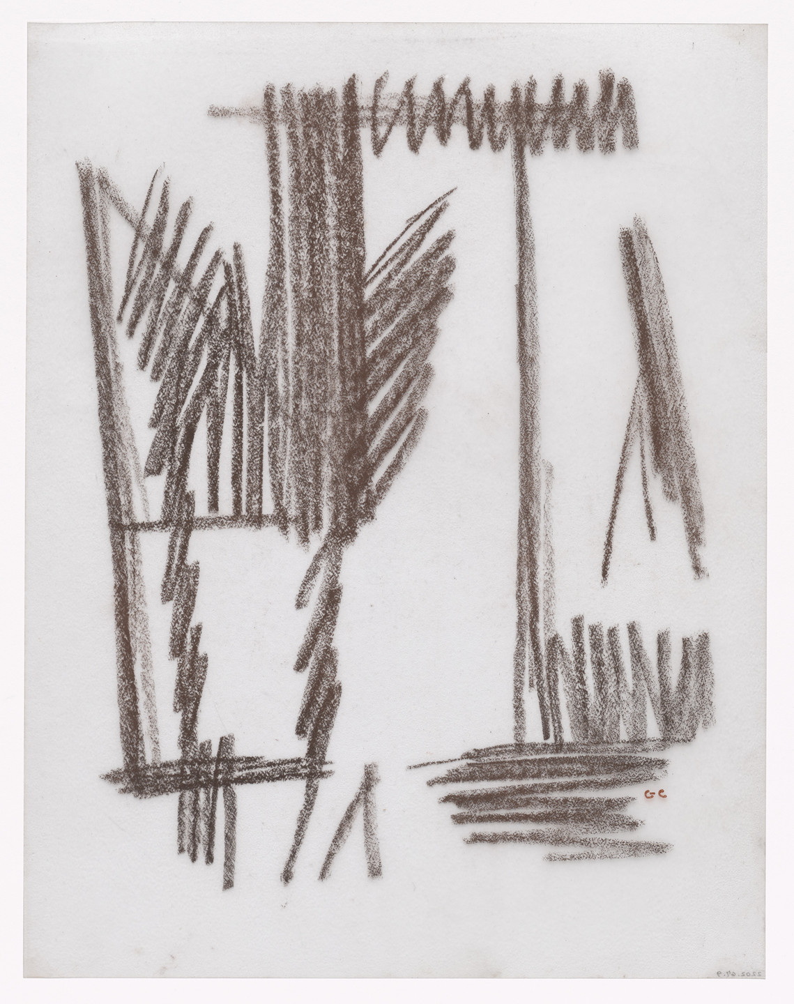 Giorgio Cavallon. Unused preparatory drawing for In Memory of My Feelings. 1967