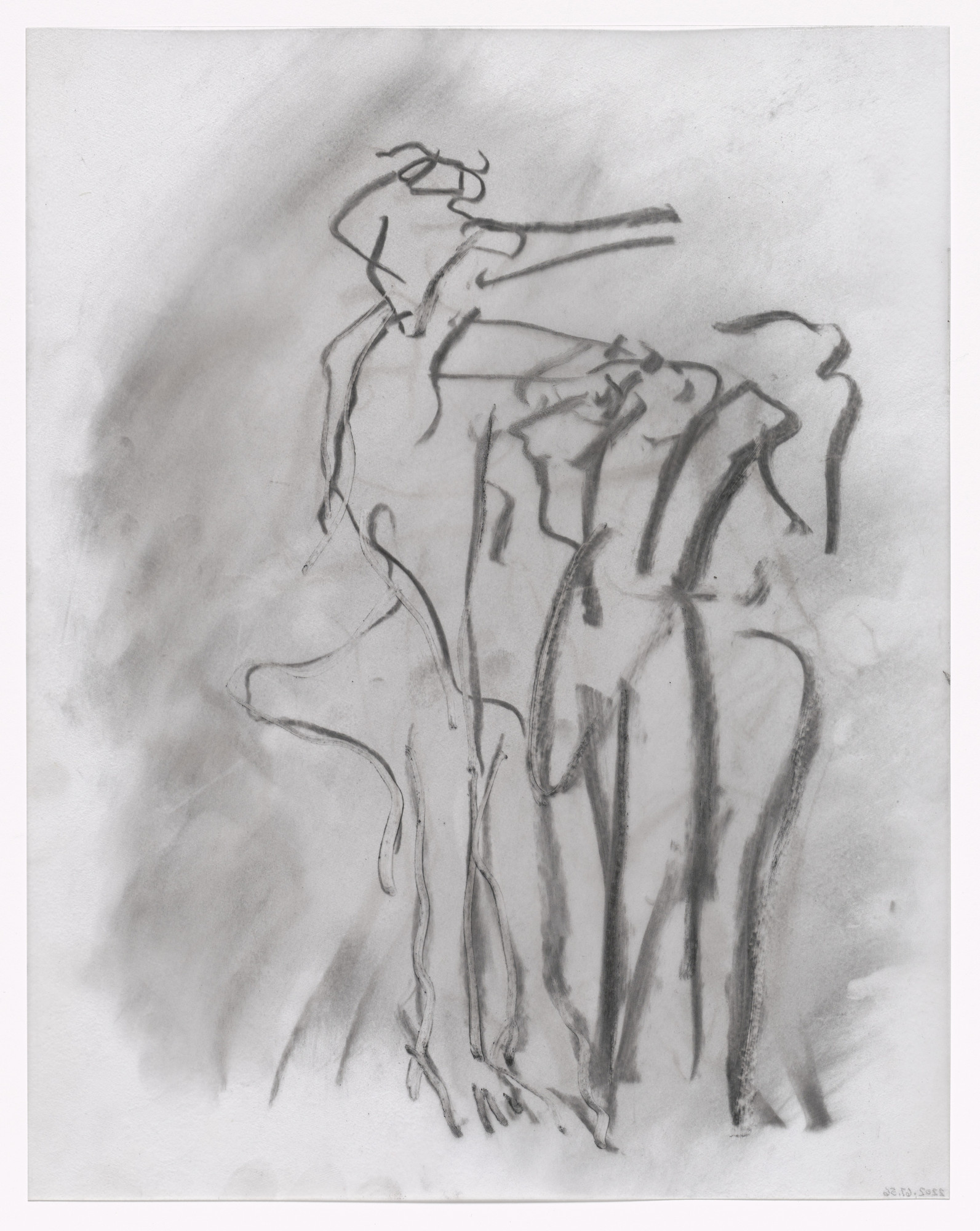 Willem de Kooning. Unused preparatory drawing for In Memory of My Feelings. 1967