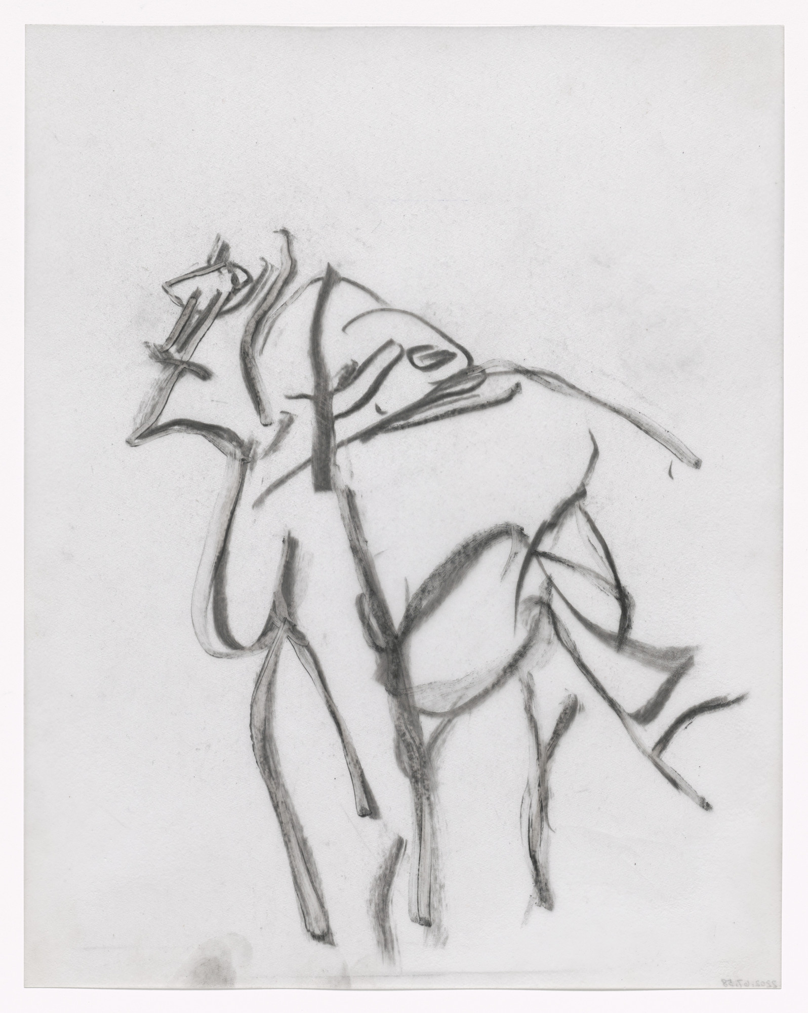 Willem de Kooning. Preparatory drawing for In Memory of My Feelings. 1967