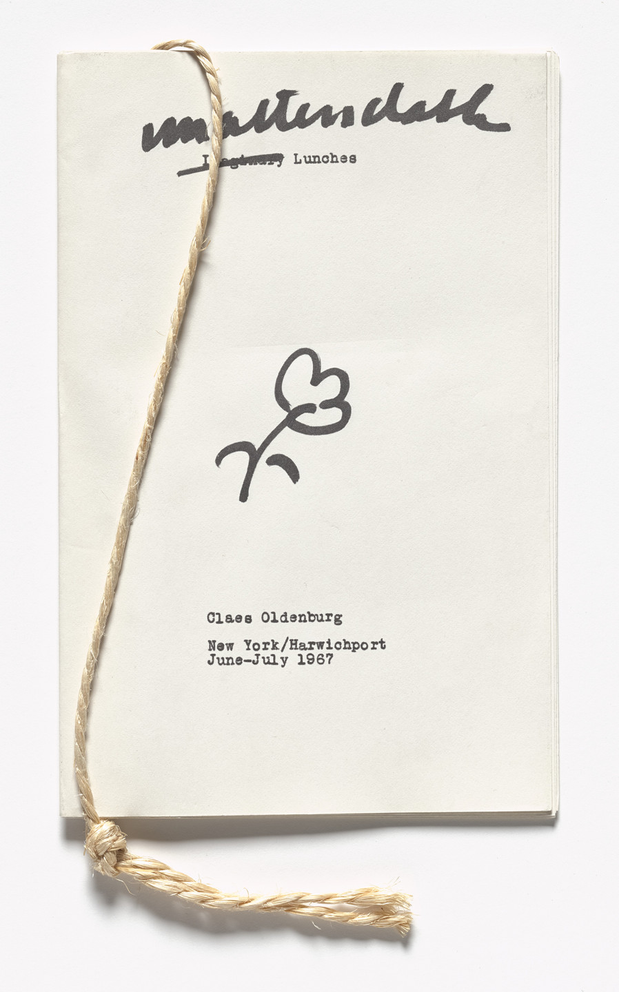 Claes Oldenburg. Unattendable Lunches from S.M.S. No. 6. 1968