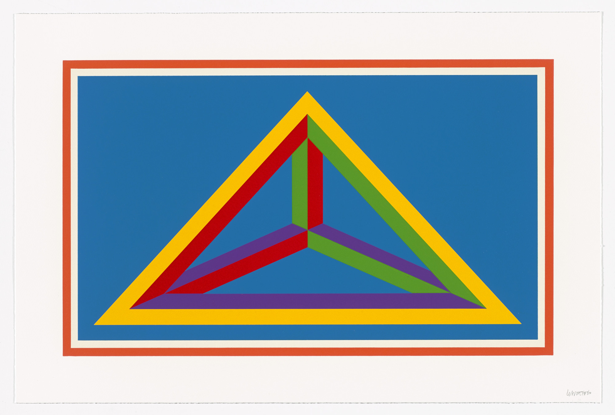 Sol LeWitt. Untitled from Isometric Figures. 2002