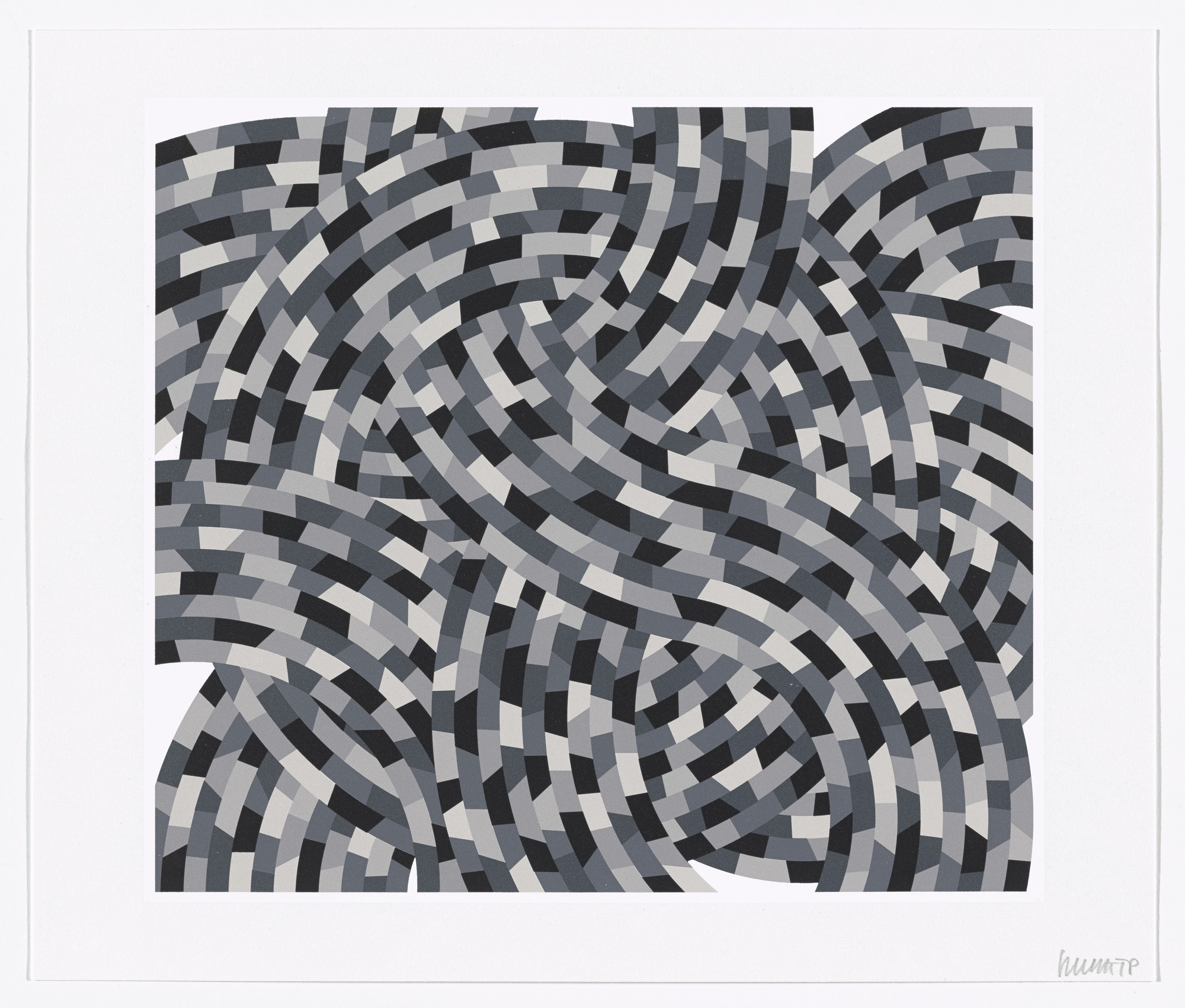Sol LeWitt. Whirls and Twirls (Black and Grays). 2005