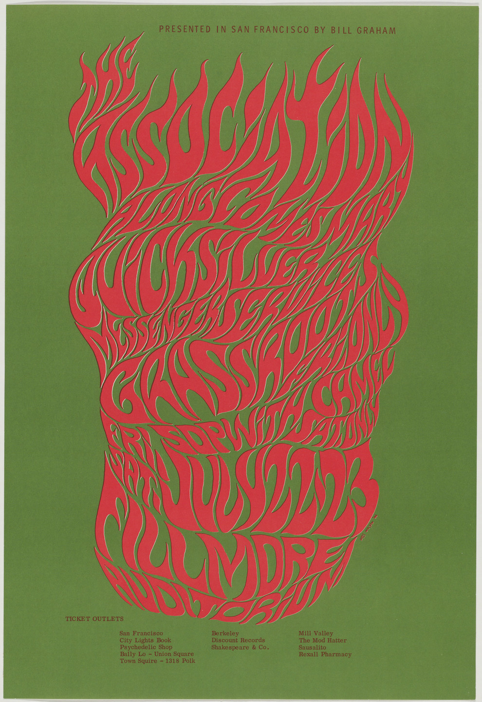 Wes Wilson. The Association, Along Comes Mary, Quicksilver Messenger Service. 1966